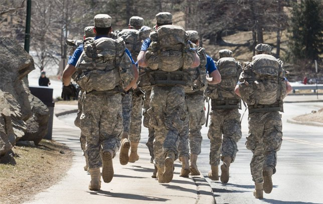 """Soldiers foot marching a/k/a """"rucking"""""""