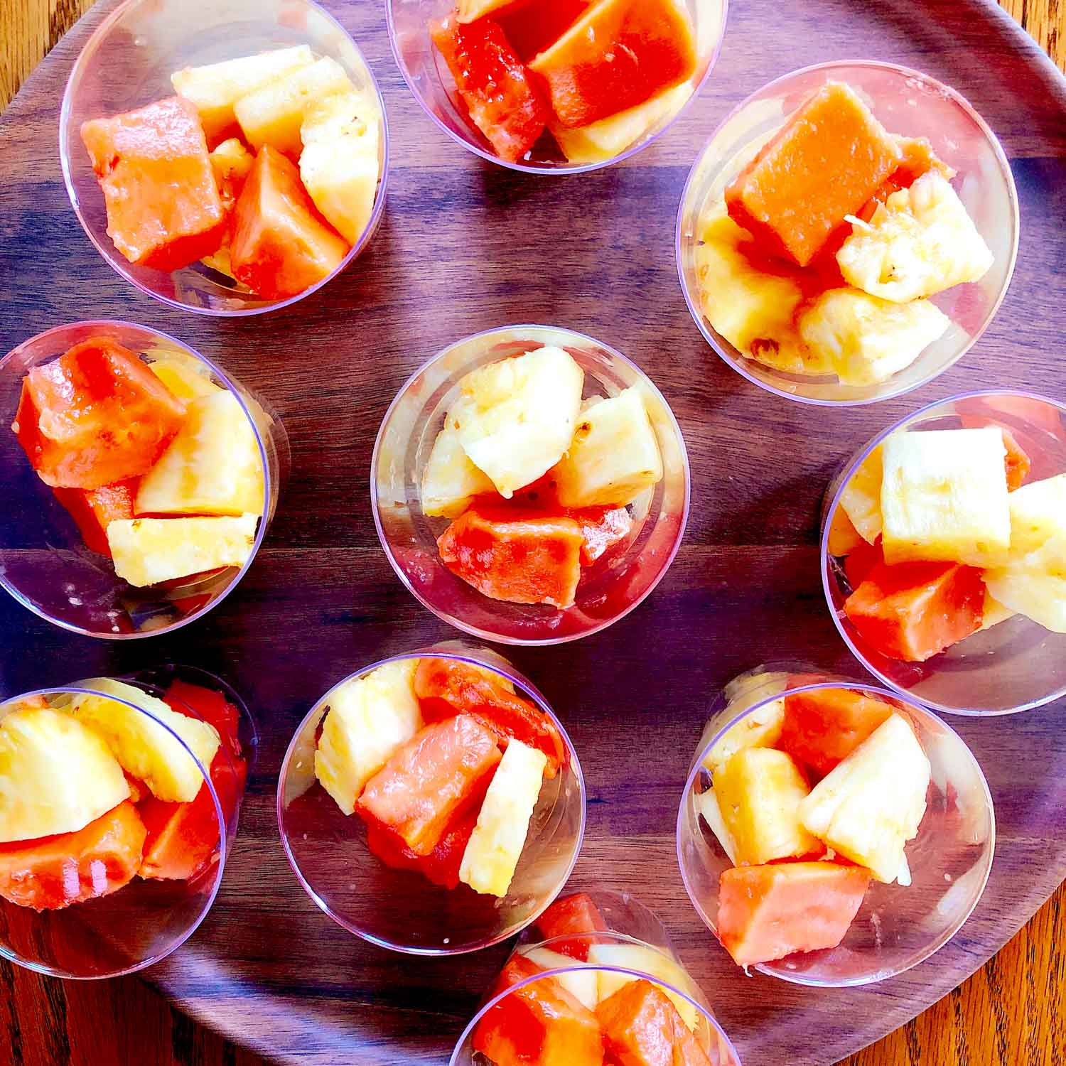 Tropical fruit cups