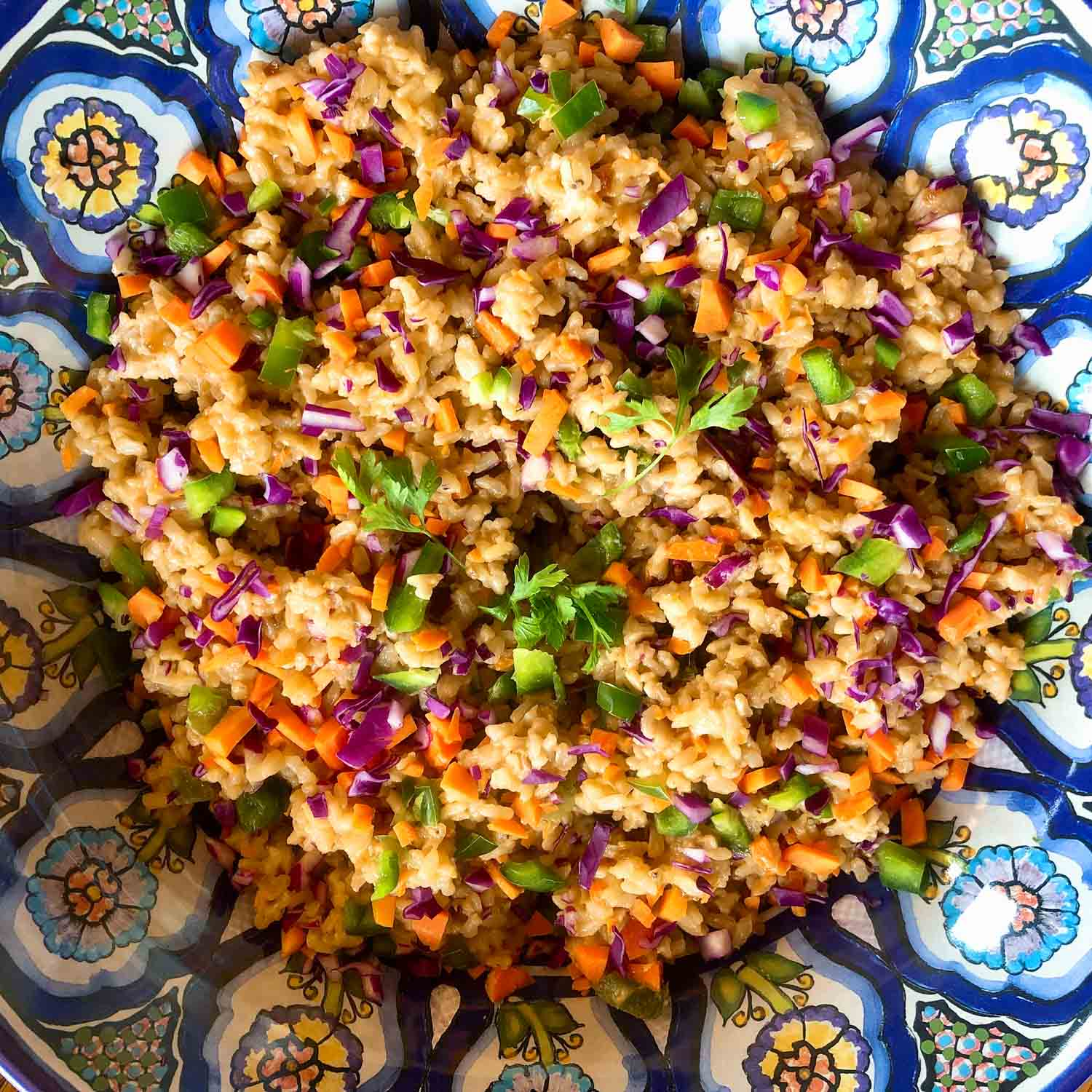 Curry citrus brown rice salad