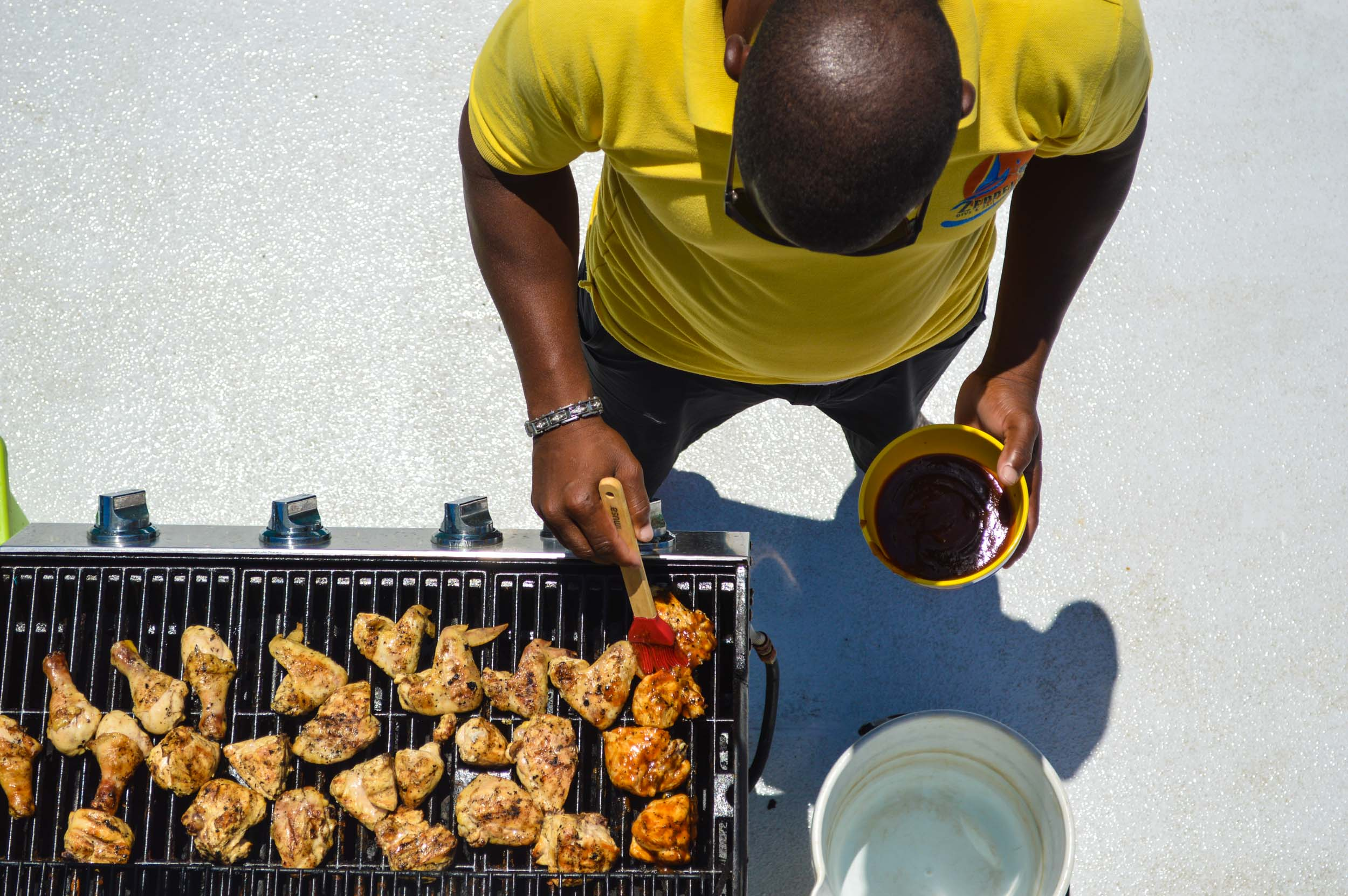 Full sized grill to prepare mouth-watering meals.