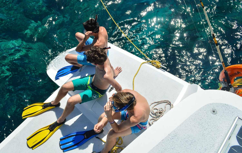 Boys snorkel gear