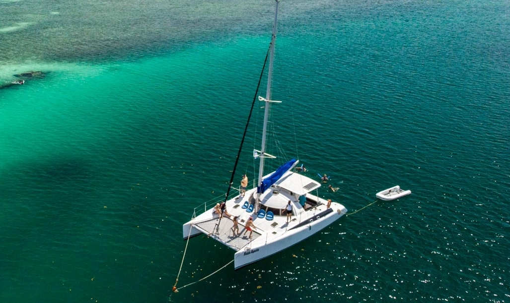 Fountaine Pajot Fidji 39 drone shot