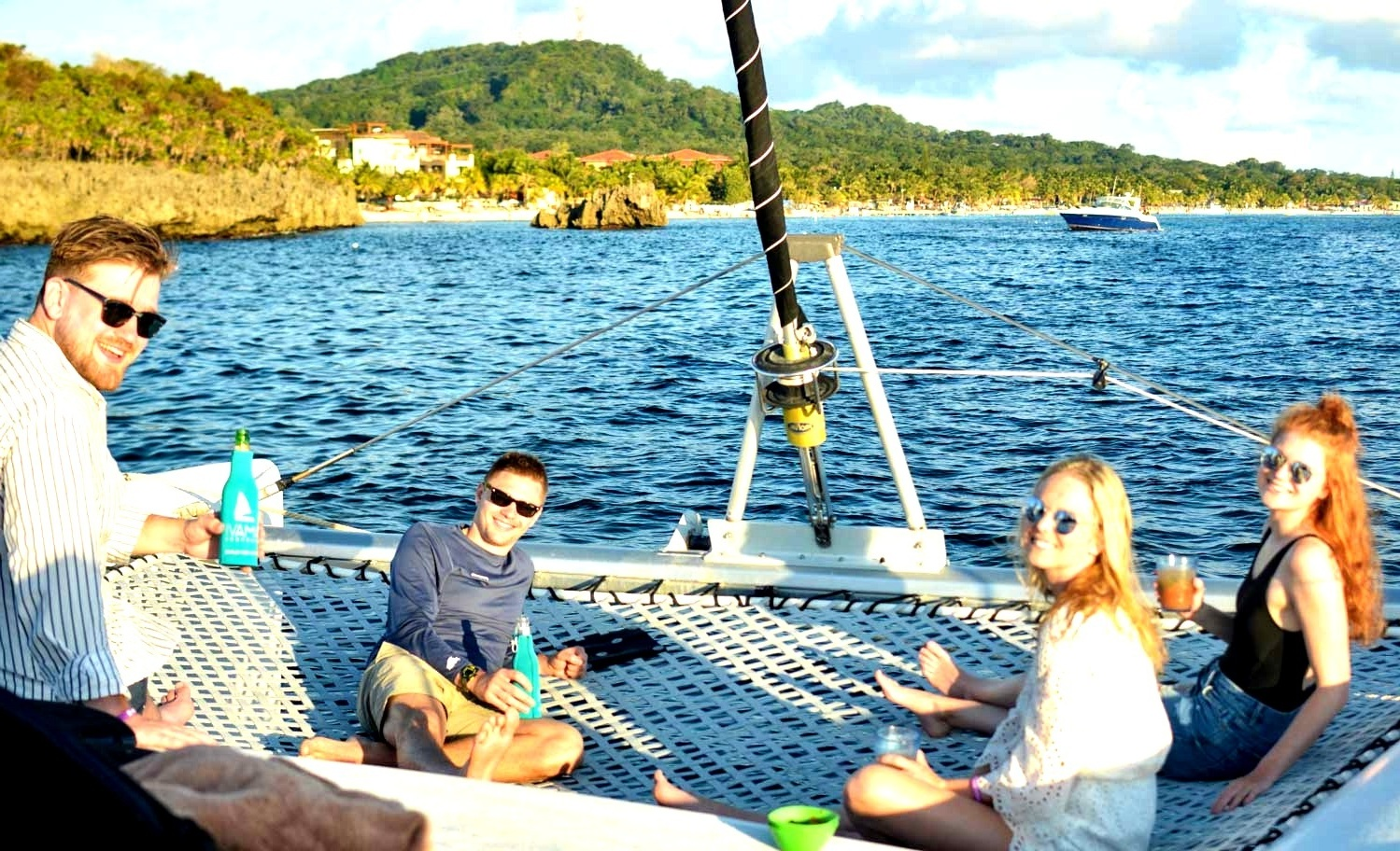 SUNSET SAILING - 4:30 - The magnificent sky will guide us west along the island's south shore for a cracking sail home with the trade winds at our back! Take in the sunset with savory hors d'oeuvres and cold beverages to close another perfect day in paradise.6pm - Disembark at Parrot Tree Marina in time to make it to your dinner reservation. Need a restaurant recommendation? Just ask!