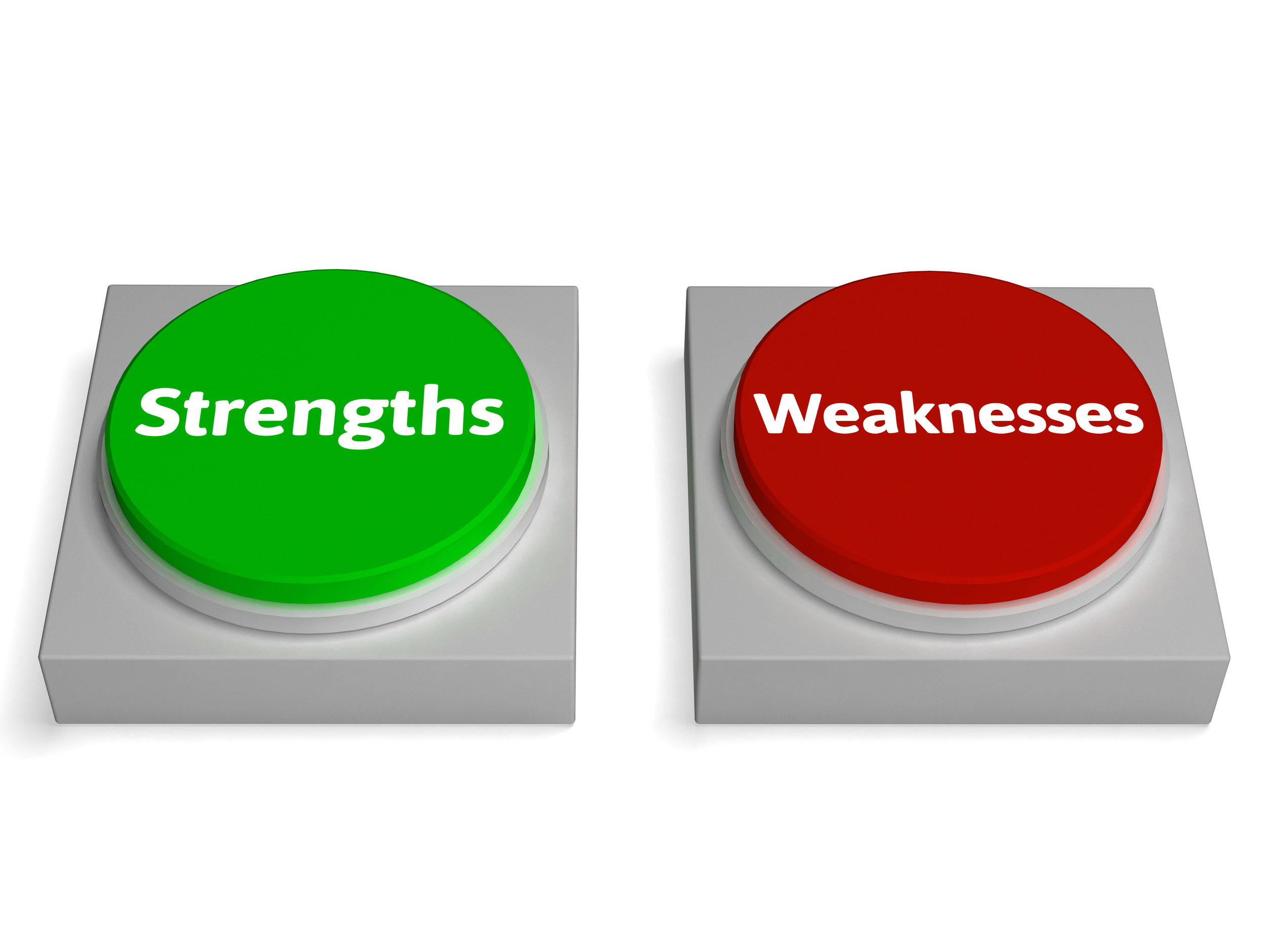choose to focus on your strengths rather than weaknesses for healthy self-esteem