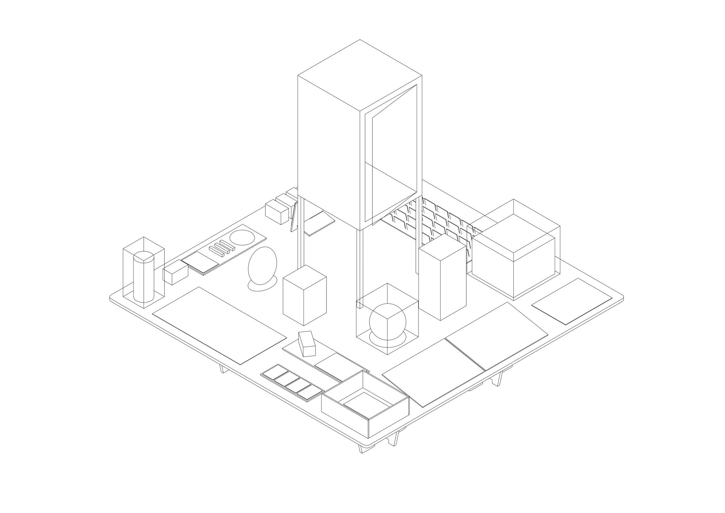 Knowledge Pearl Table - Axonometric