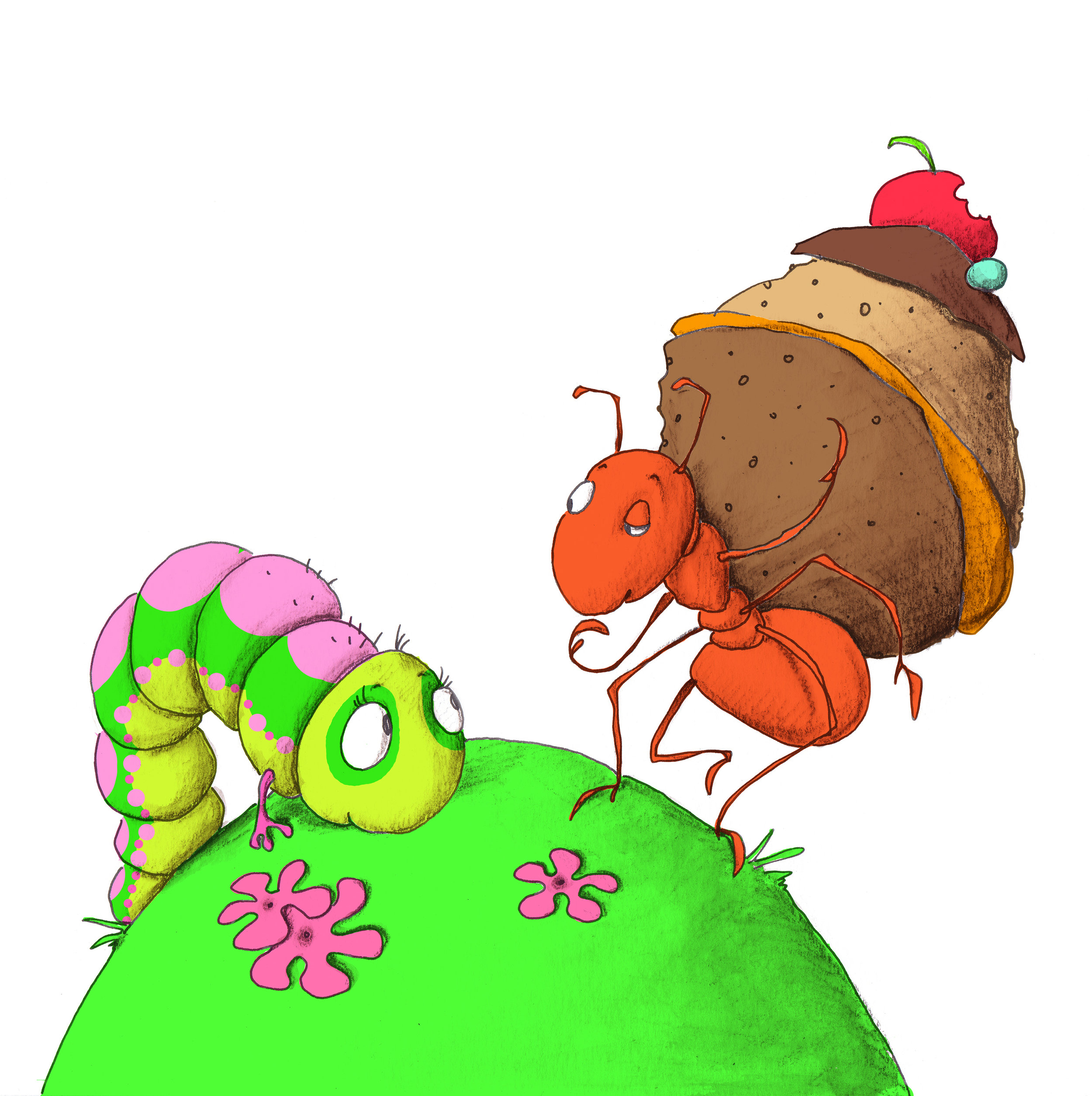 Download image from Little Ant and the Butterfly.