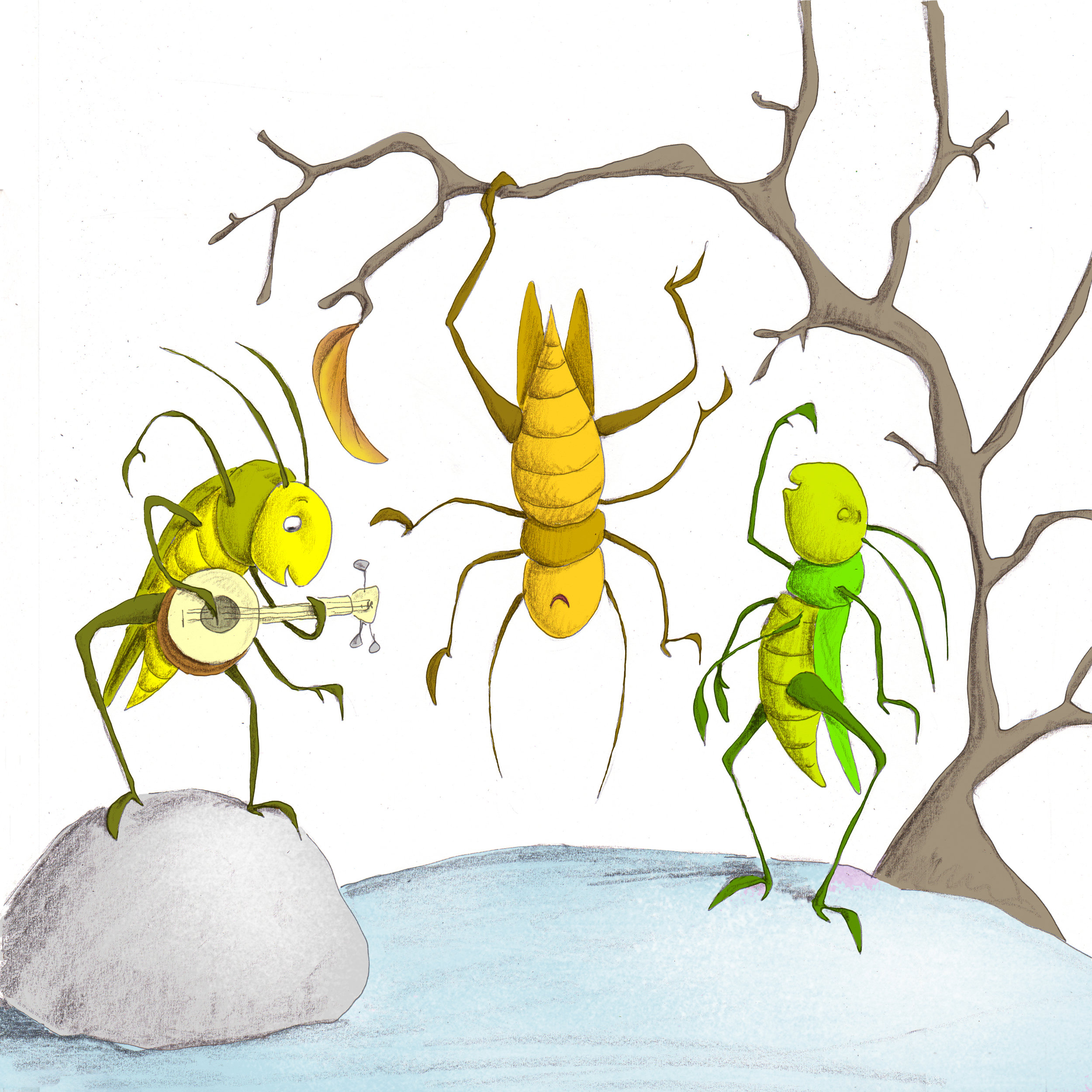 Download image from Little Ant and the Grasshopper.