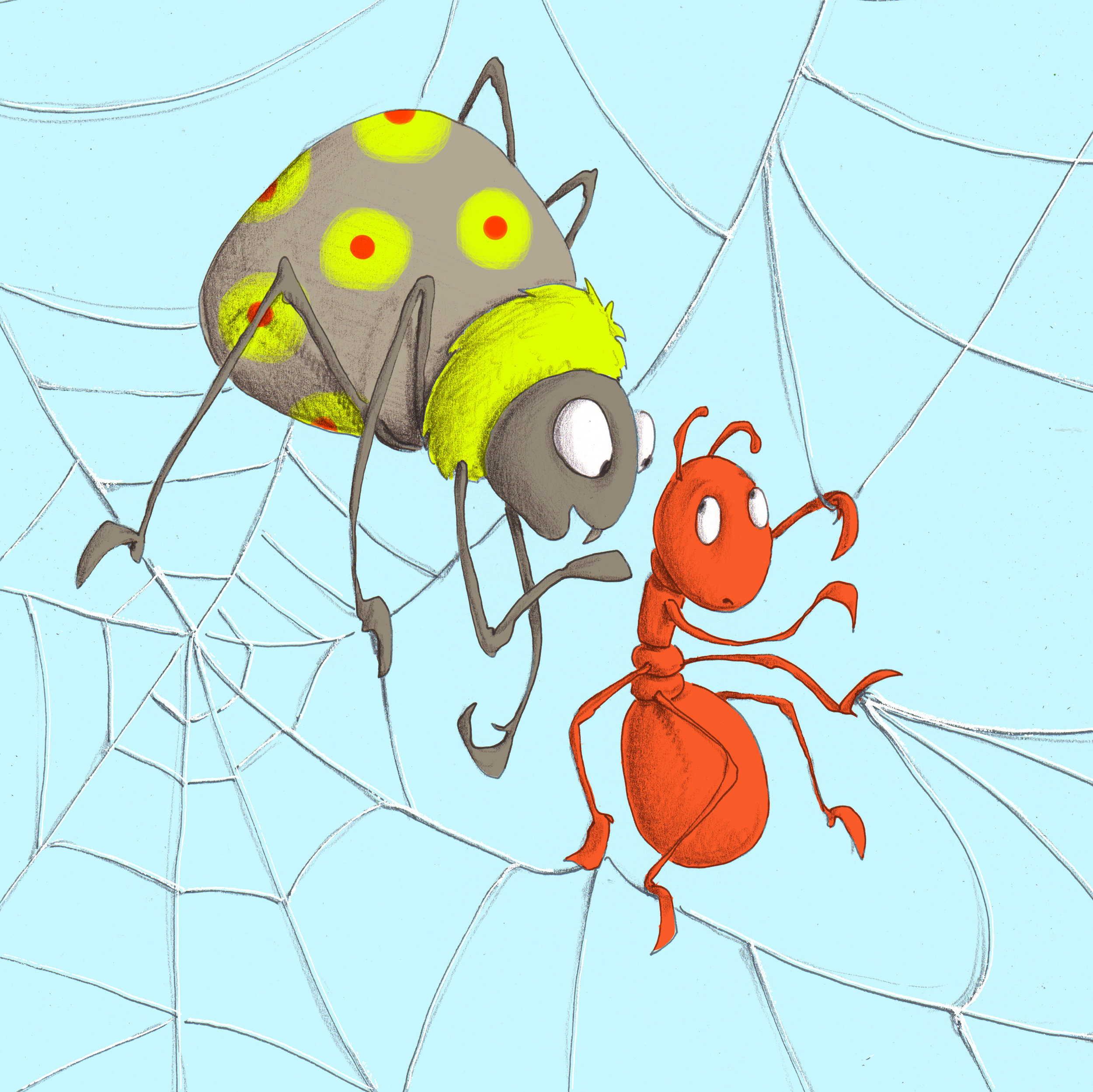 Download image from Little Ant and the Spider.