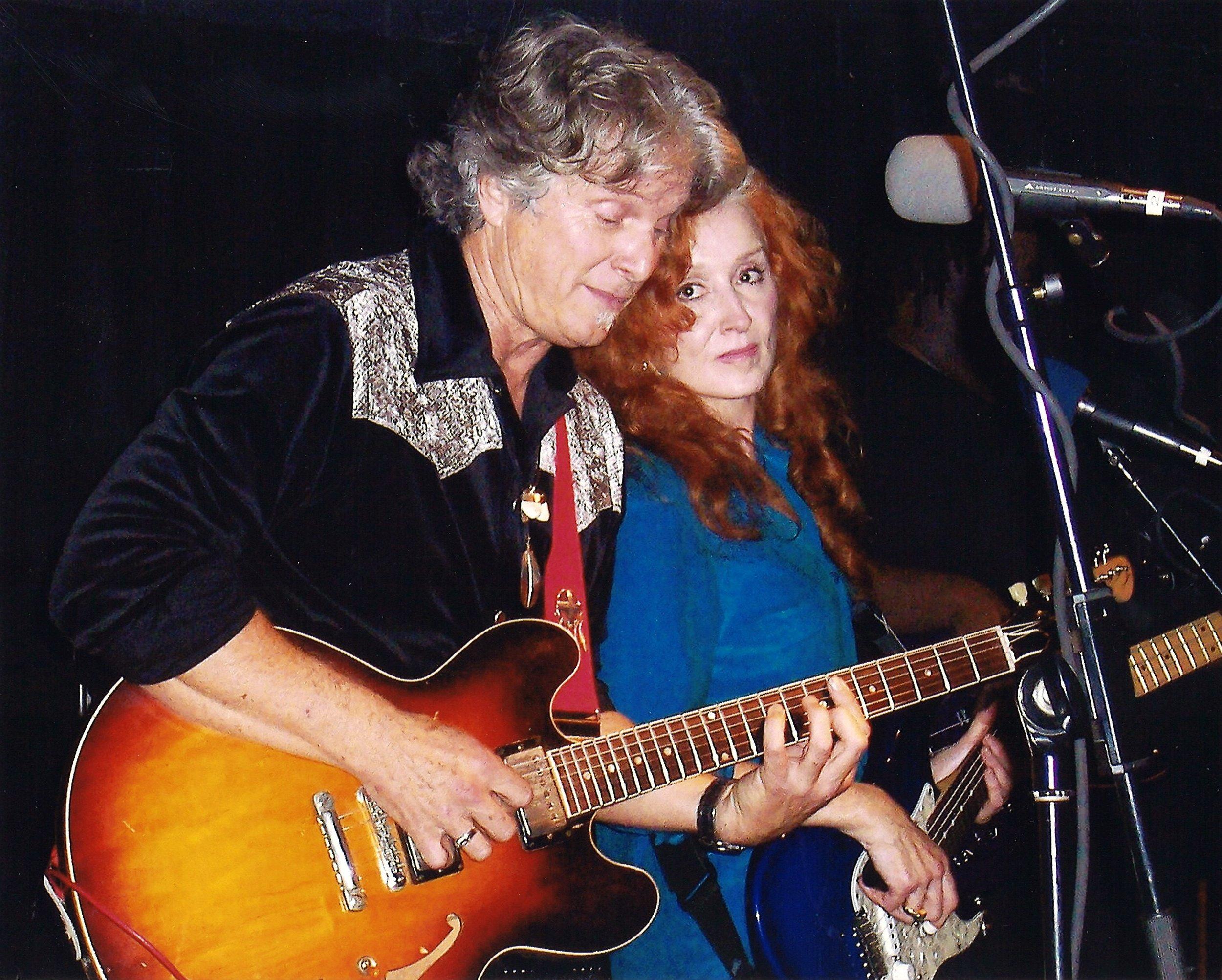 Stephen and Bonnie Raitt Working Their Musical Magic.