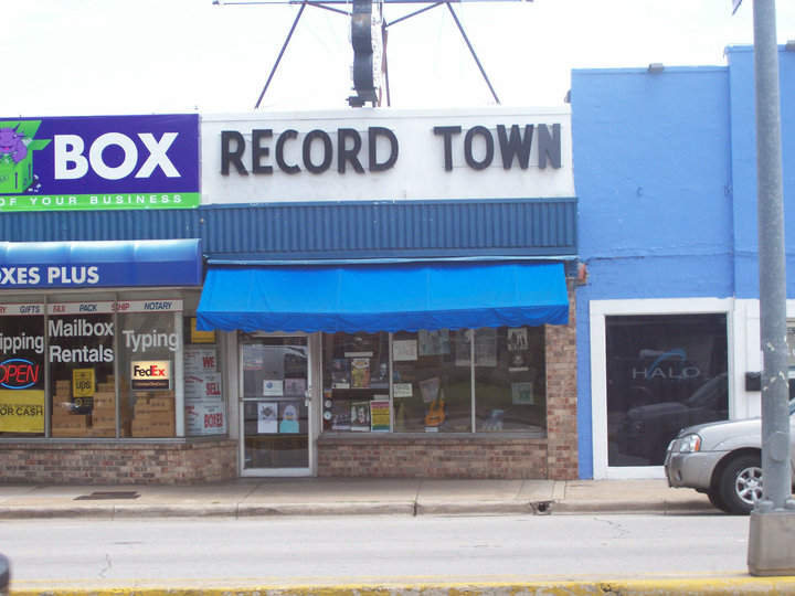 Record Town Store Front.
