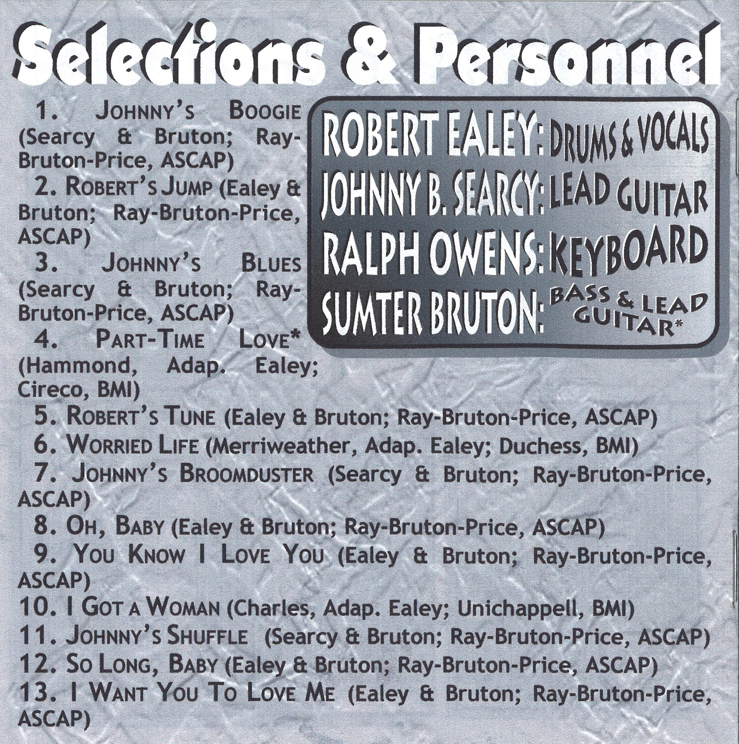 Back Cover – Robert Ealey - Blues That Time Forgot (2003)
