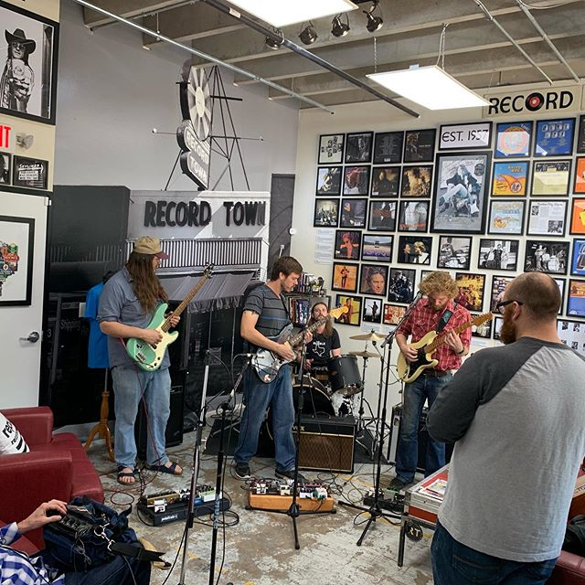 Chillamundo recording a new video at Record Town! Check it out on the Record Town YouTube channel! @chillamundo @fortworthweekly @nearsouthside @recordtowntx