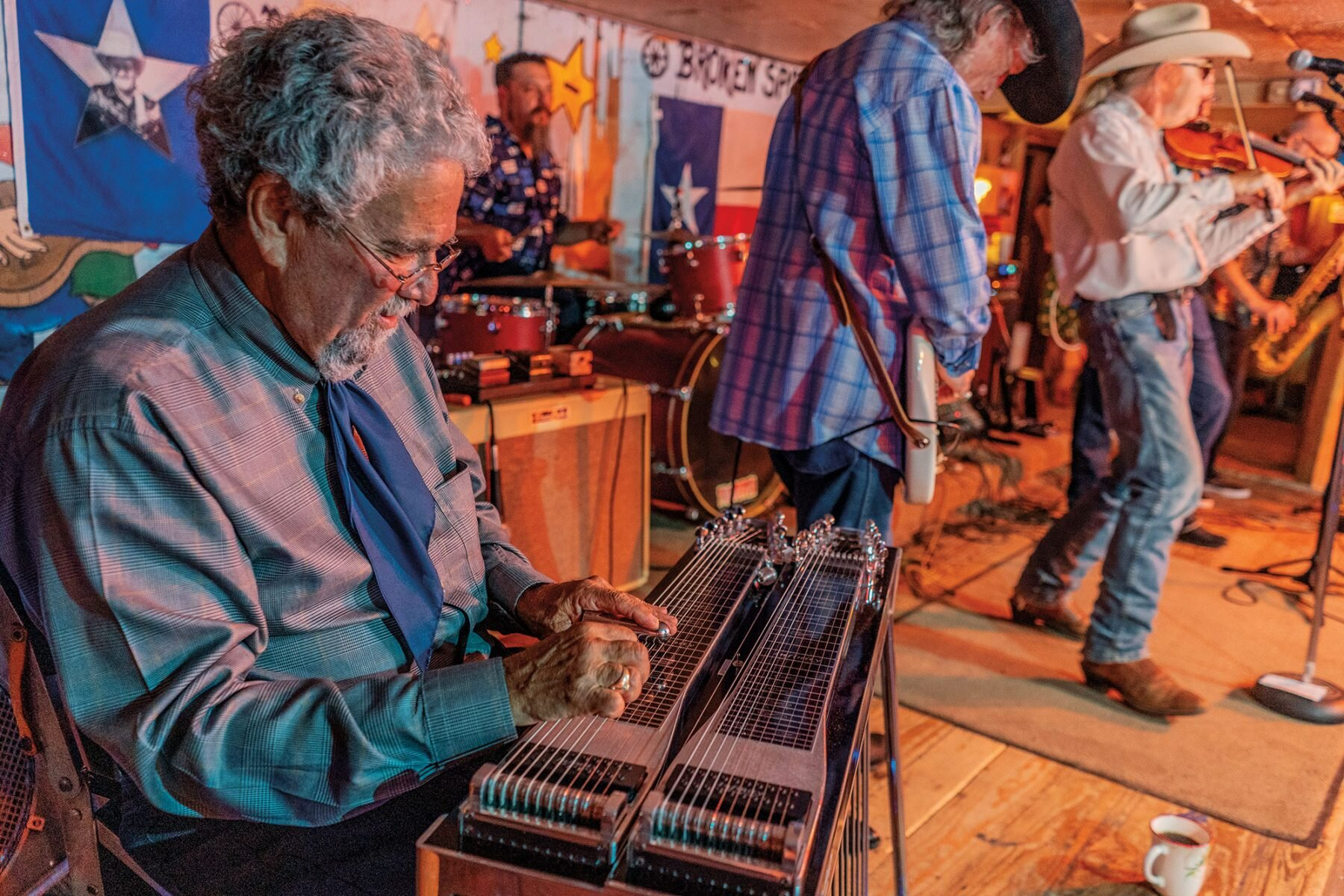 Alvin Crow and the Pleasant Valley Boys are among bands keeping Western swing music alive at venues like the Broken Spoke in Austin. Photo: Will van Overbeek