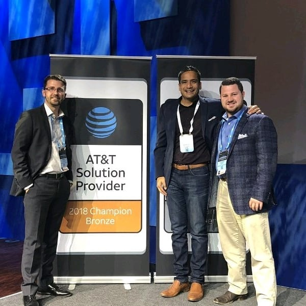 Micah & Lindsey at the 2018 AT&T Alliance Channel Kickoff  NetSpark is Proud to be a 2018 Bronze Champion!