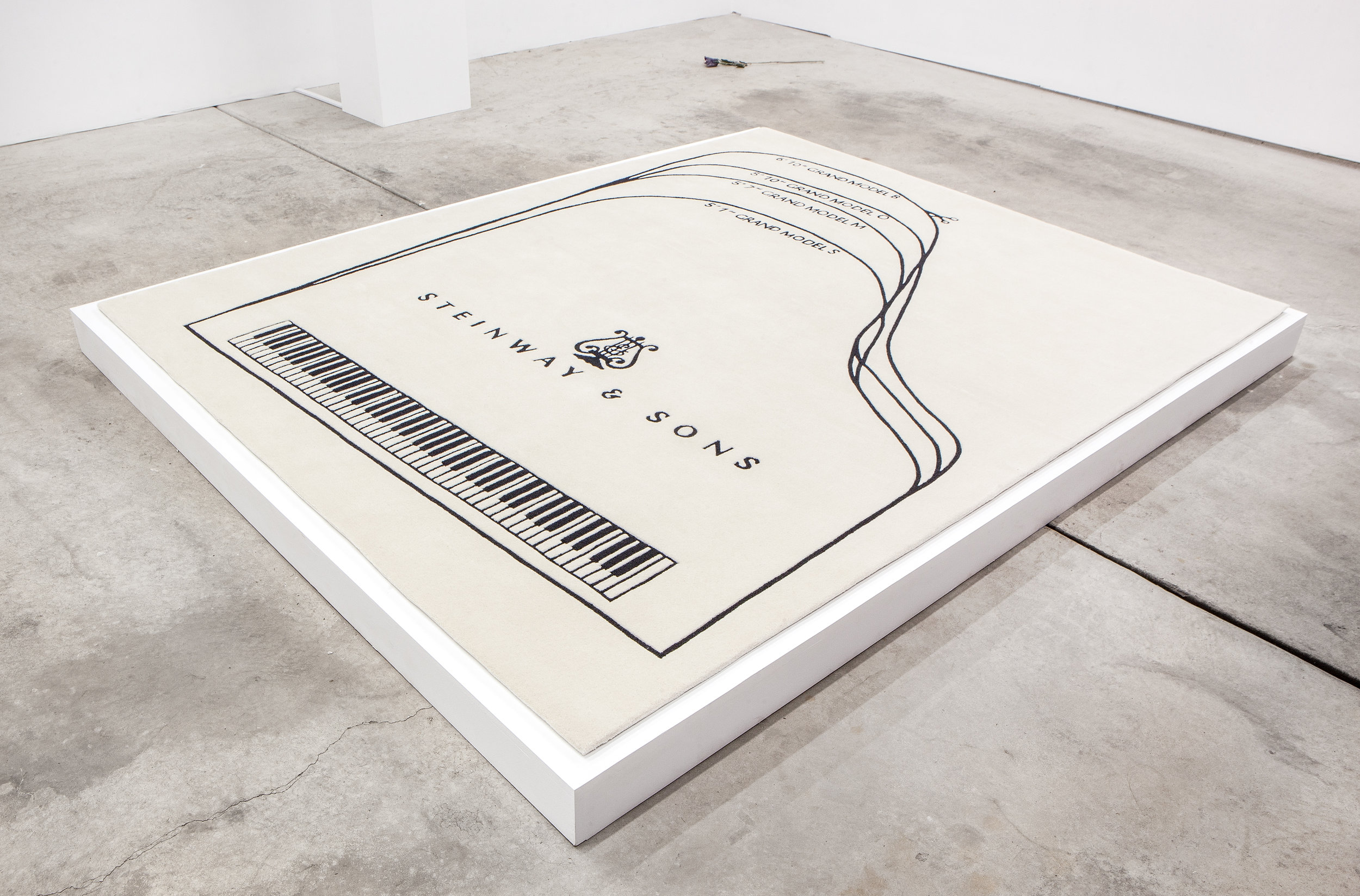 Barbara Bloom (b. Los Angeles, California, 1951),  Steinway Piano Carpet , 2010. Wool rug, 90 x 72 inches. Edition 6 of 15, with 2 AP. Courtesy David Lewis Gallery, New York. Photo: Daniel Hojnacki.