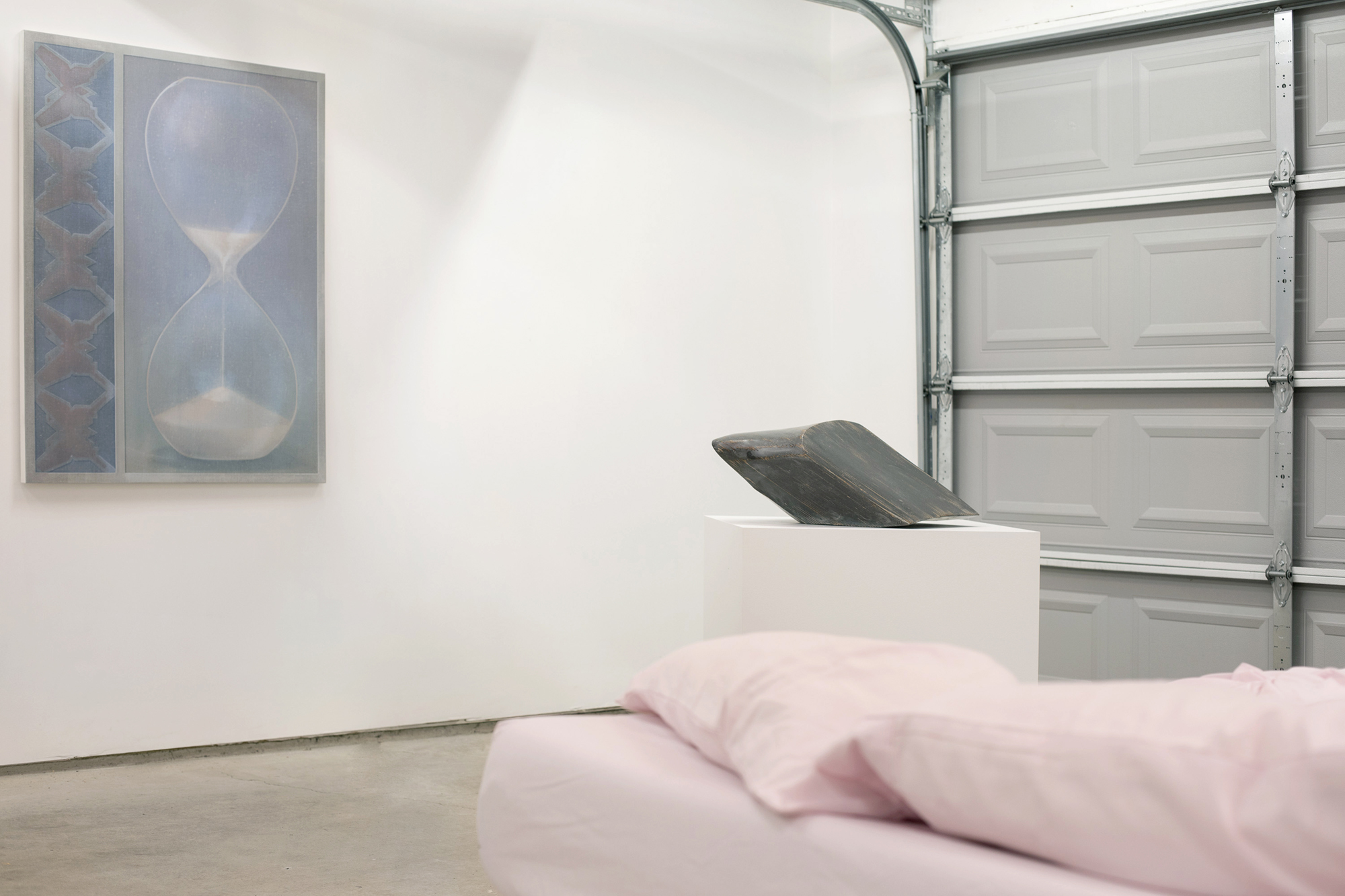 Installation view,  Saturnine,  curated by Stephanie Cristello at Chicago Manual Style, featuring Theodora Allen, Antoine Donzeaud, Assaf Evron, and Wim van der Linden, 2019. Photo: Assaf Evron