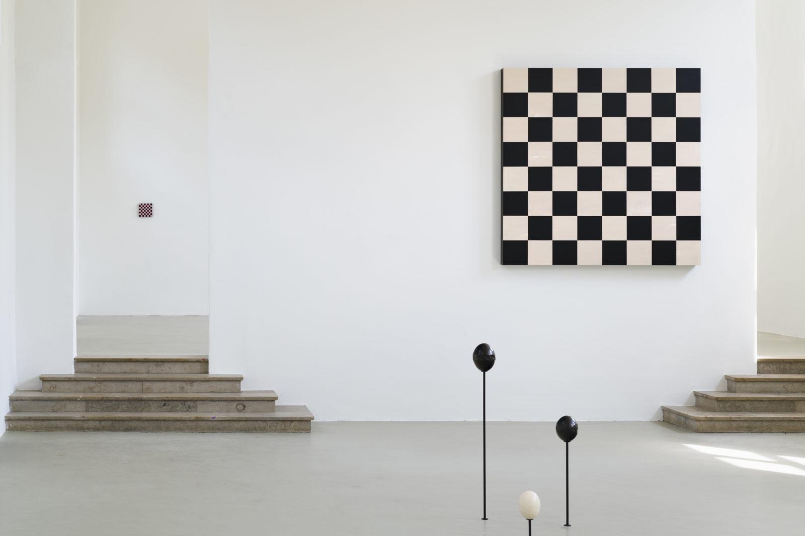 Image: Sarah Ortmeyer. Installation view, FLYRT, at the Kunstverein Münich. Copyright Sarah Ortmeyer. Photographer: Peter Motchi.