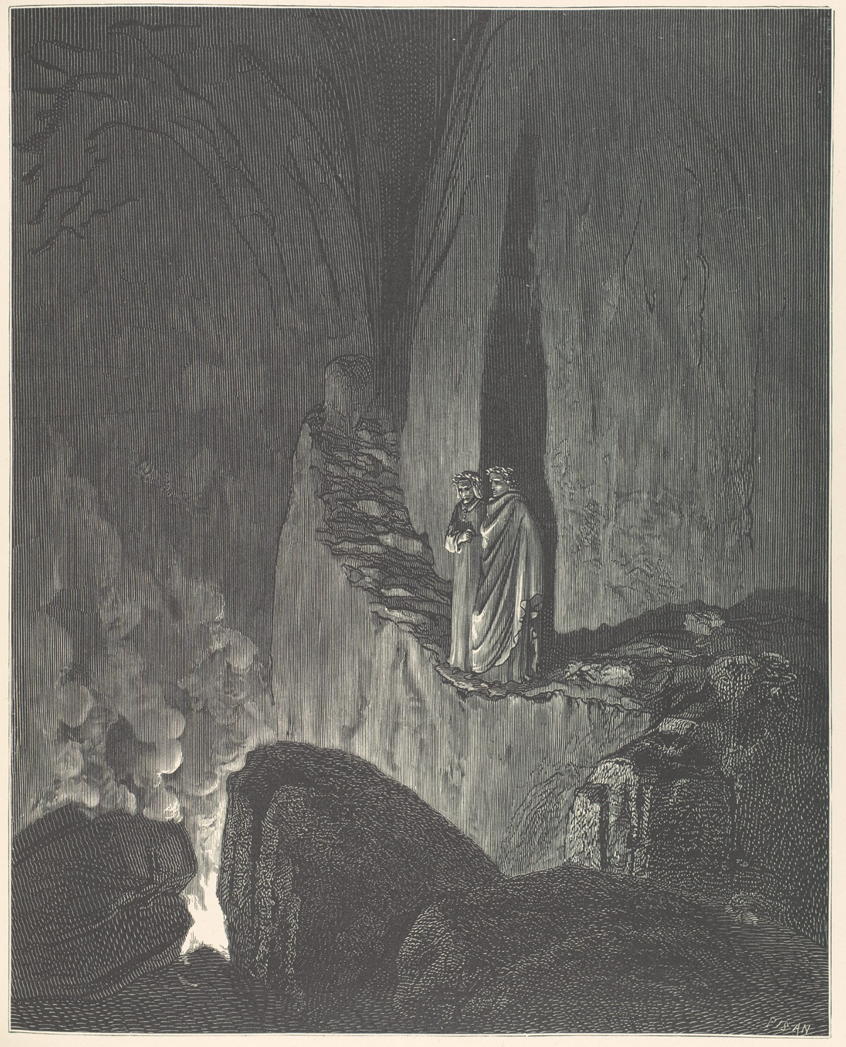 fig. 3   Gustave Doré, illustration for Canto XXVI, Dante's  Inferno  (1866).