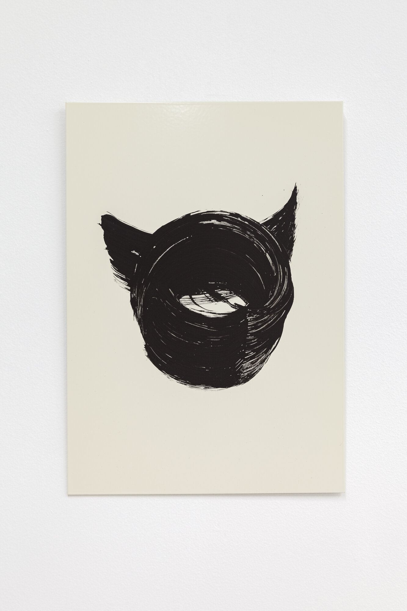 Image: Sarah Ortmeyer,  DIABOLUS,  2019. Gesso on metal.  INFERNO CHICAGO , curated by Stephanie Cristello, Chicago Manual Style (Chicago, IL). Copyright Sarah Ortmeyer. Courtesy of Dvir, Tel Aviv / Brussels. Photographer: Robert Chase Heishman.