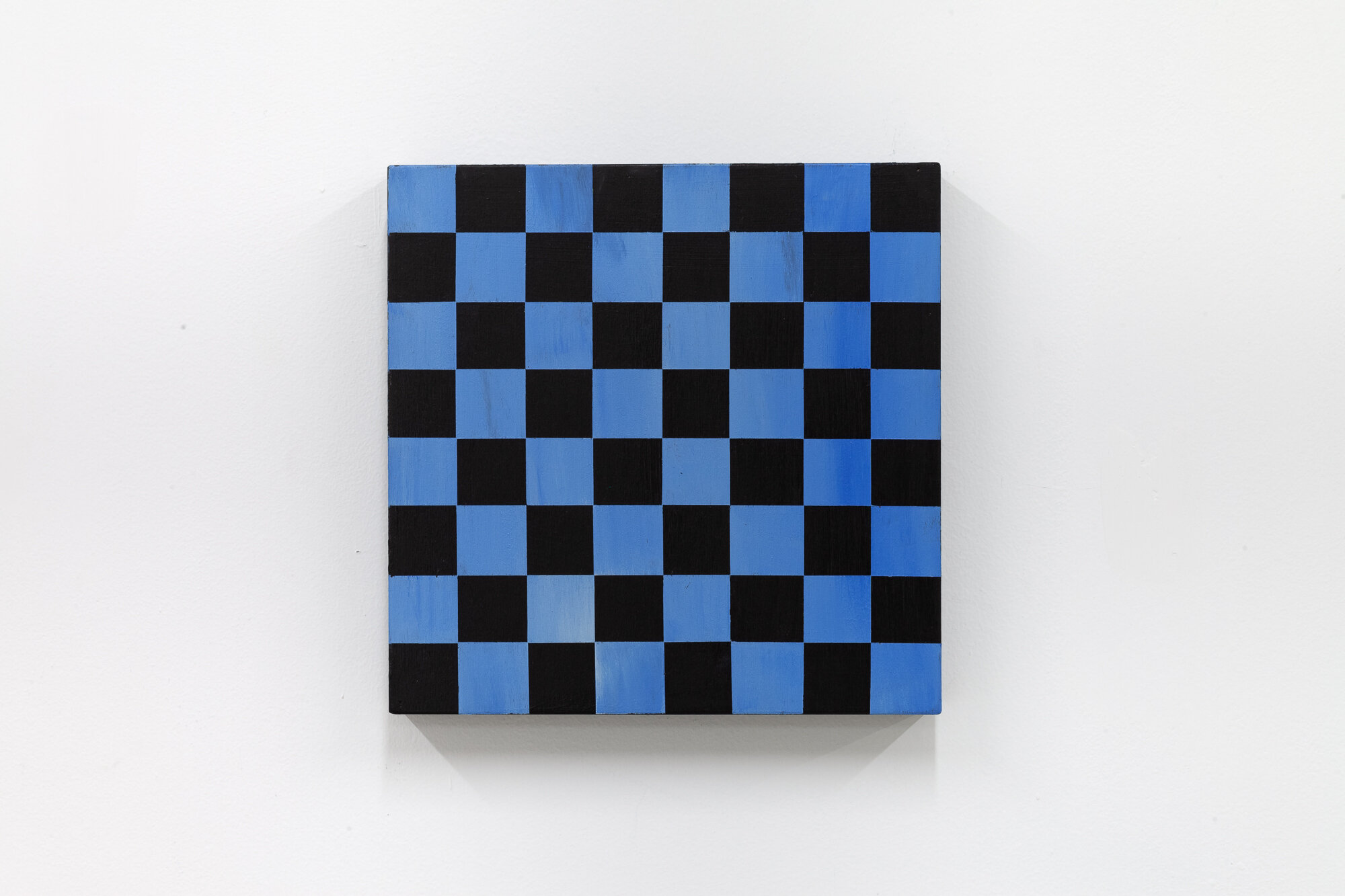 Image: Sarah Ortmeyer,  GRANDMASTER (light blue),  2019. Paint on wood.  INFERNO CHICAGO , curated by Stephanie Cristello, Chicago Manual Style (Chicago, IL). Copyright Sarah Ortmeyer. Courtesy of Dvir, Tel Aviv / Brussels. Photographer: Robert Chase Heishman.