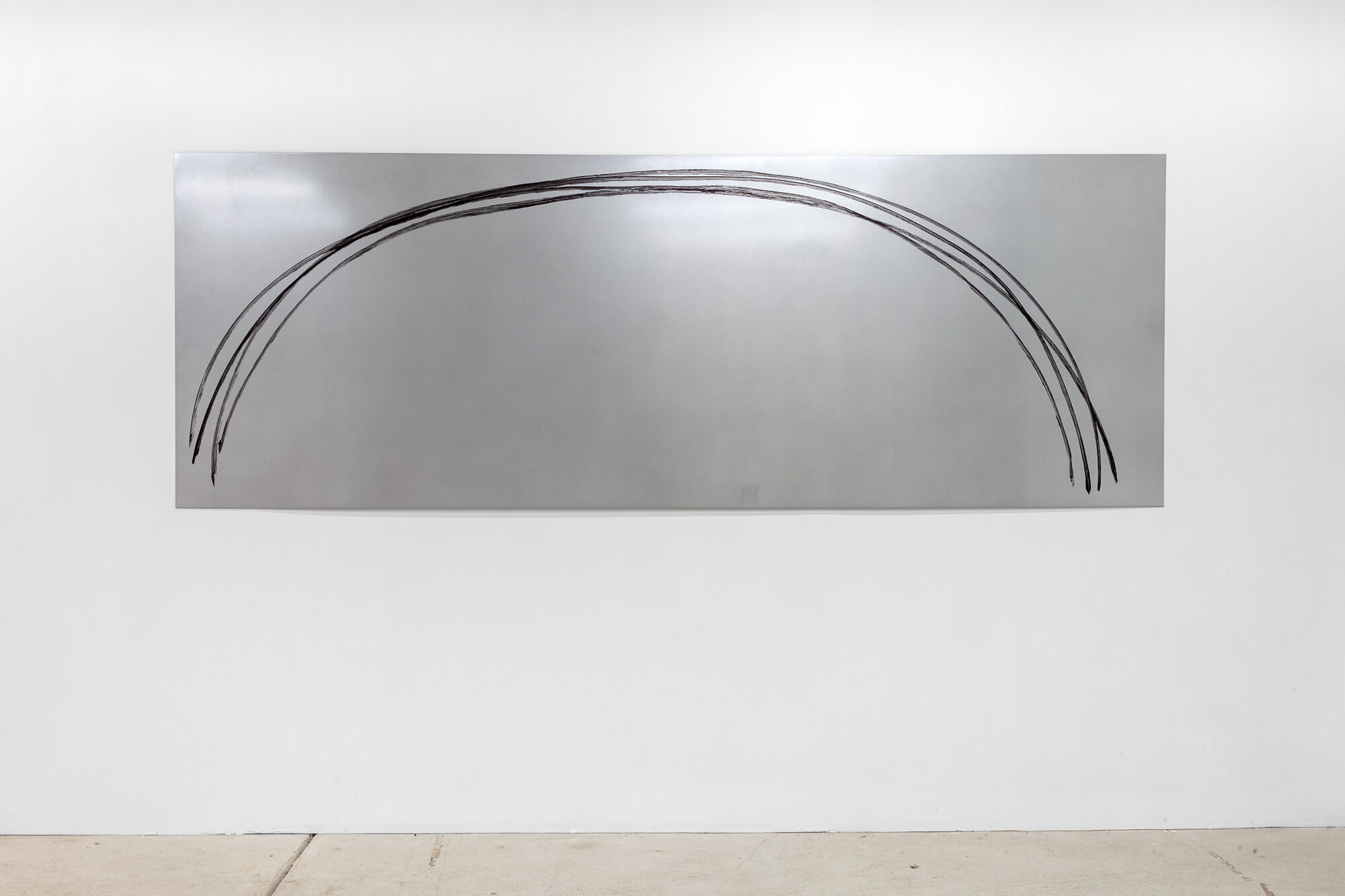 Image: Sarah Ortmeyer,  ARCUS , 2019. Gesso on metal.  INFERNO CHICAGO , curated by Stephanie Cristello, Chicago Manual Style (Chicago, IL). Copyright Sarah Ortmeyer. Courtesy of Dvir, Tel Aviv / Brussels. Photographer: Robert Chase Heishman.
