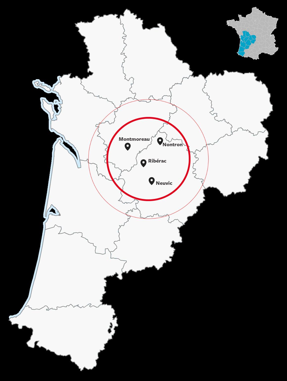 4 bureaux au cœur de la Nouvelle-Aquitaine