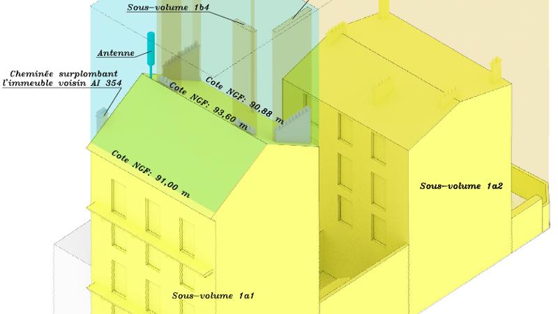Copropriété et division en volumes - Nous établissons les documents permettant la gestion de tout immeuble bâti sous le statut de la copropriété. Après avoir dressé les plans de l'existant ou avoir analysé les plans du projet, nous calculons les quotes-parts de chacun des lots et rédigeons le règlement de copropriété qui sera intégré dans un acte notarié.Nous établissons les attestations relatives à la superficie de chaque lot conformément aux dispositions de la loi Carrez, ainsi que les documents nécessaires à la gestion des ensembles immobiliers complexes non soumis au régime de la copropriété, en identifiant les différents volumes composant l'ensemble.