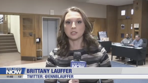 Brittany Lauffer reports the story, films the story and edits the story!