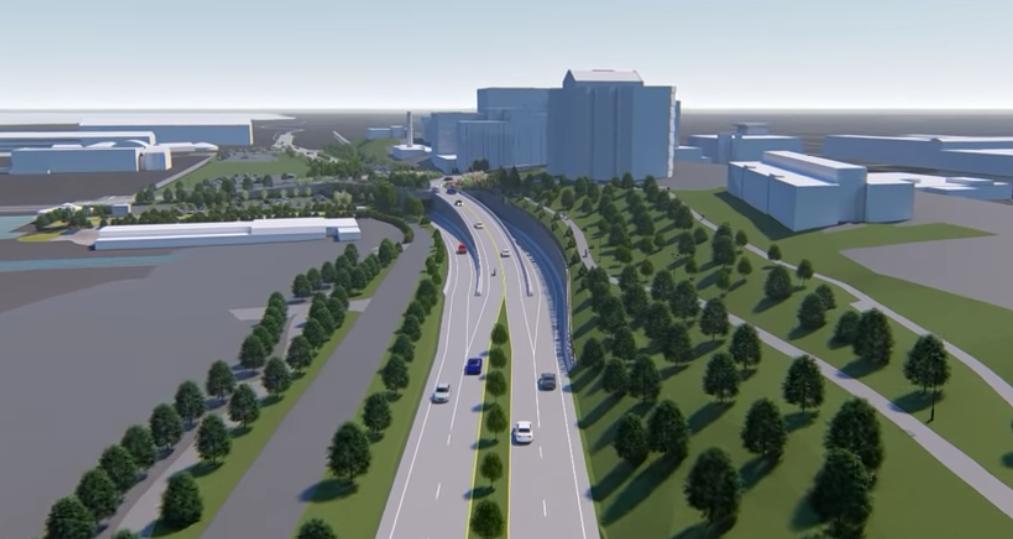 Penn DOT'S multi-lane expansion for the Bayfront arterial highway.