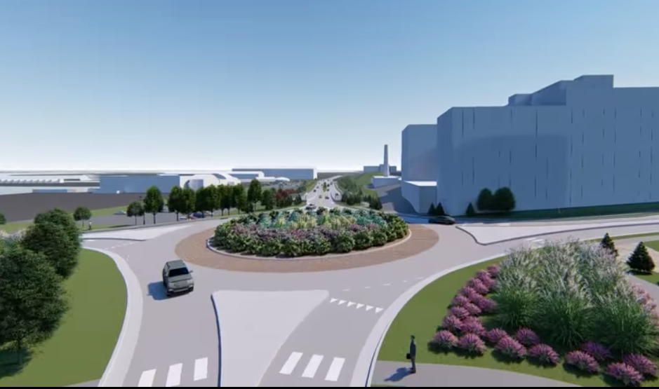 Penn DOT's proposal for 2-lane round-about at State Street that will require pedestrians to navigate up to four lanes of traffic,