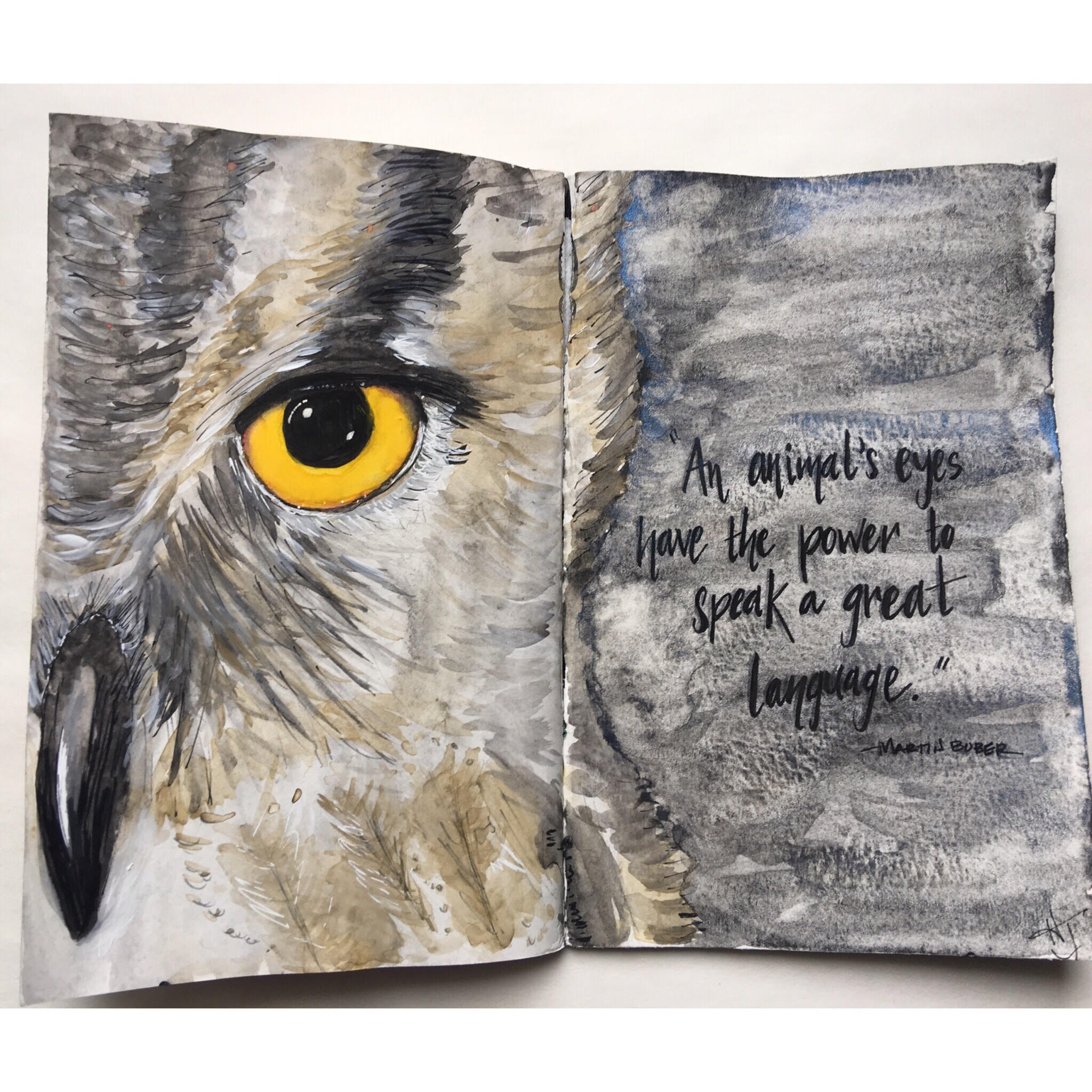 This is the latest owl I have created. I am struck by the difference between this owl and the one in the fourth image. Daily practice is important for growth. This owl has reinforced this lesson for me.