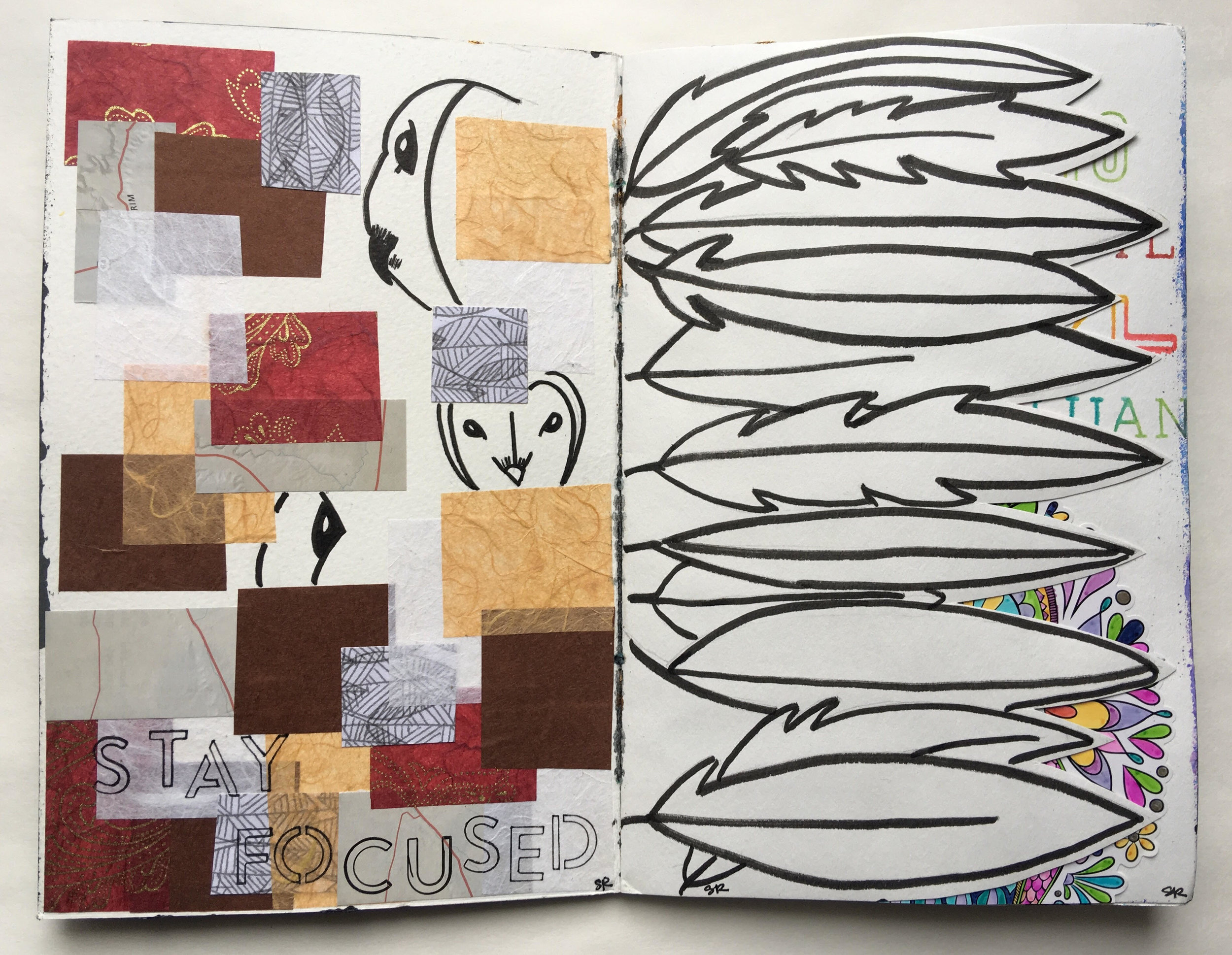 I love how Sarah was inspired by the color of owls and used paper to communicate her message. Bravo!