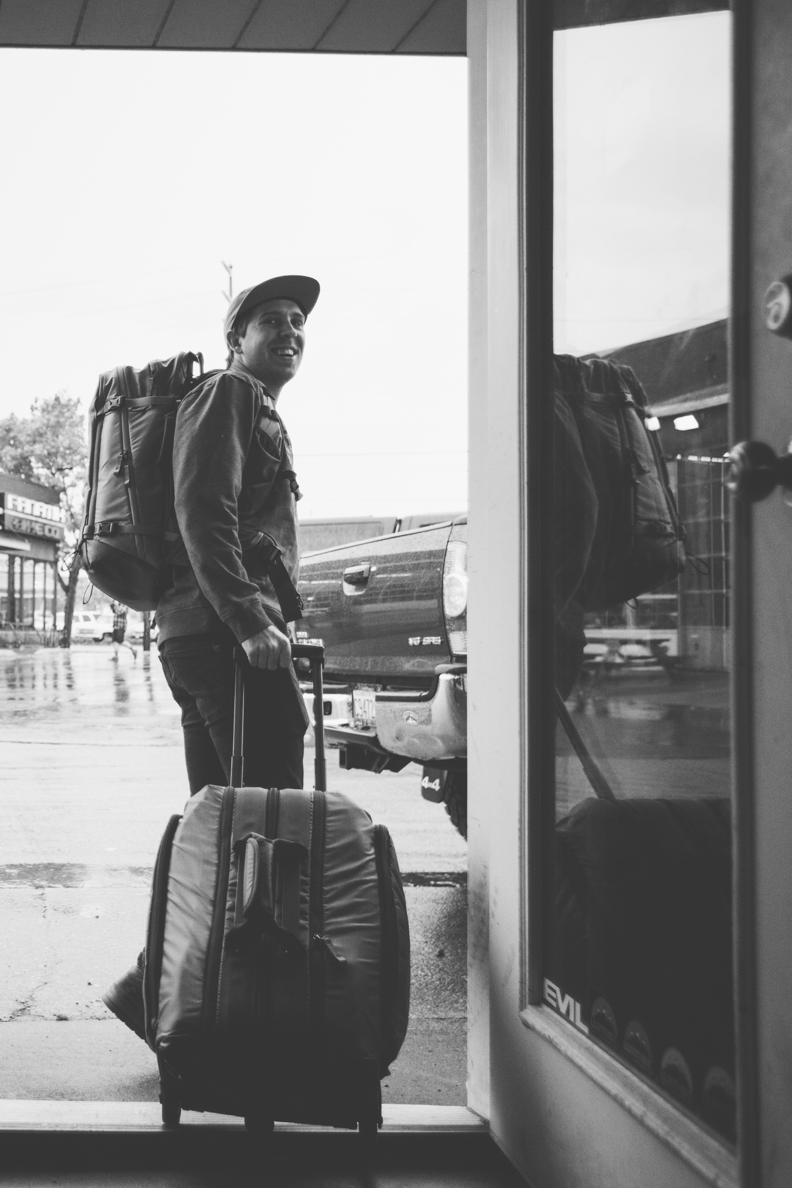 Paris Gore packing up to leaving for 2017 Red Bull Rampage