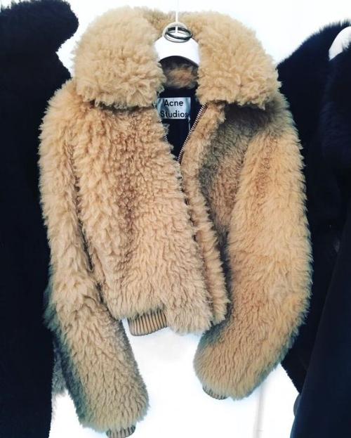 acne studio teddy coat