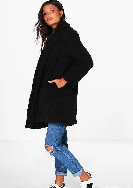 boohoo black teddy coat.PNG