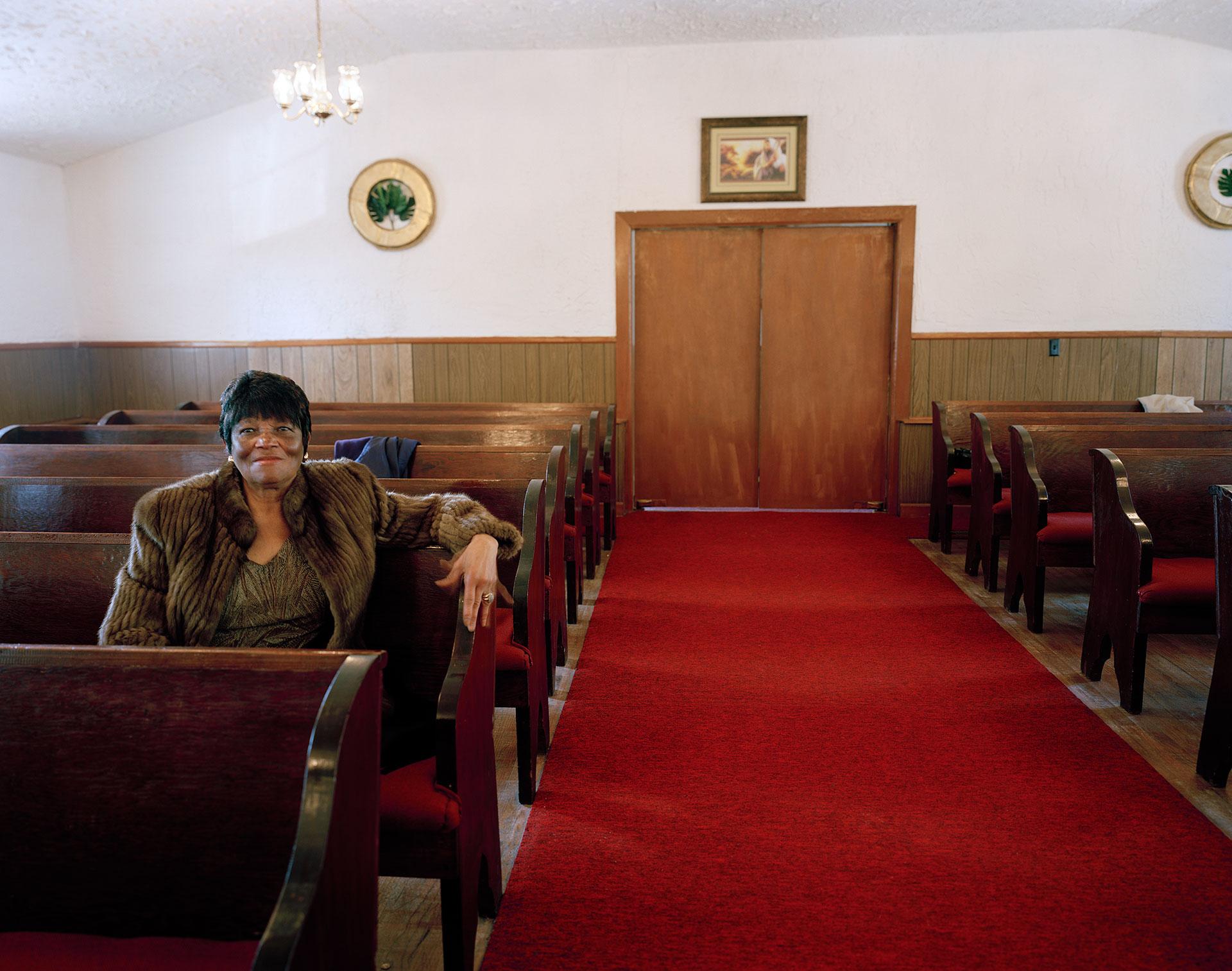 Thelma on Valentine's Day, Antioch Baptist Church, Highway 64