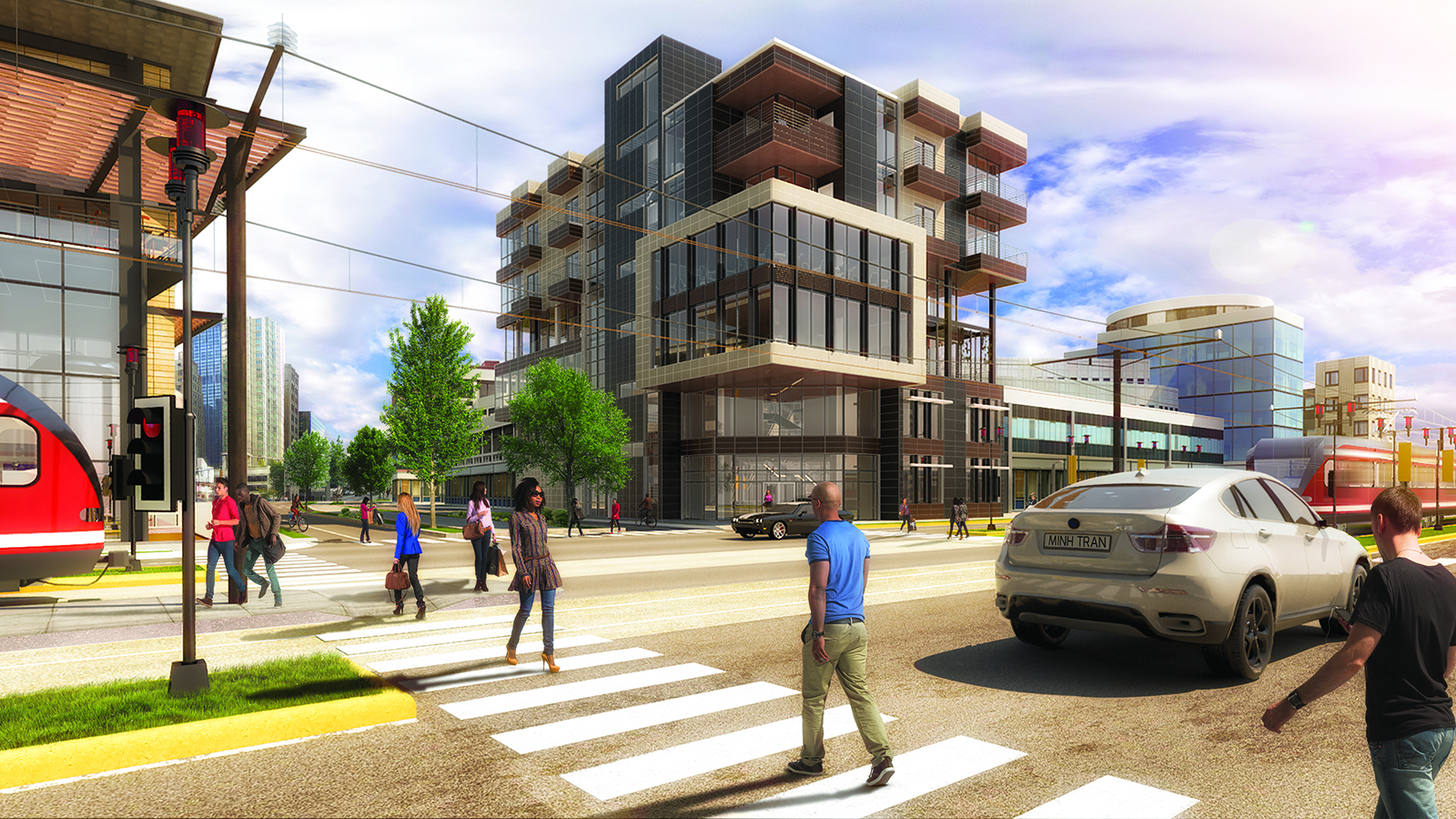 Completing the Iris Complex, at the intersection of Millennial Curve and Axis Avenue; this is where Arboria Library stands.