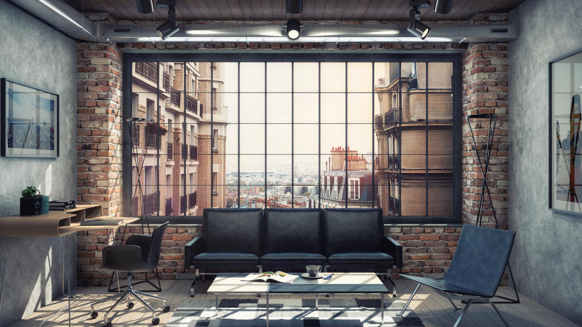 Industrial Living Room View 1 Final Rendering.png