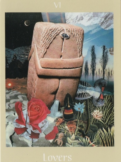 The Lovers (VI) from the Voyager Tarot deck, created by James Wanless with Ken Knutson. My Life Card.