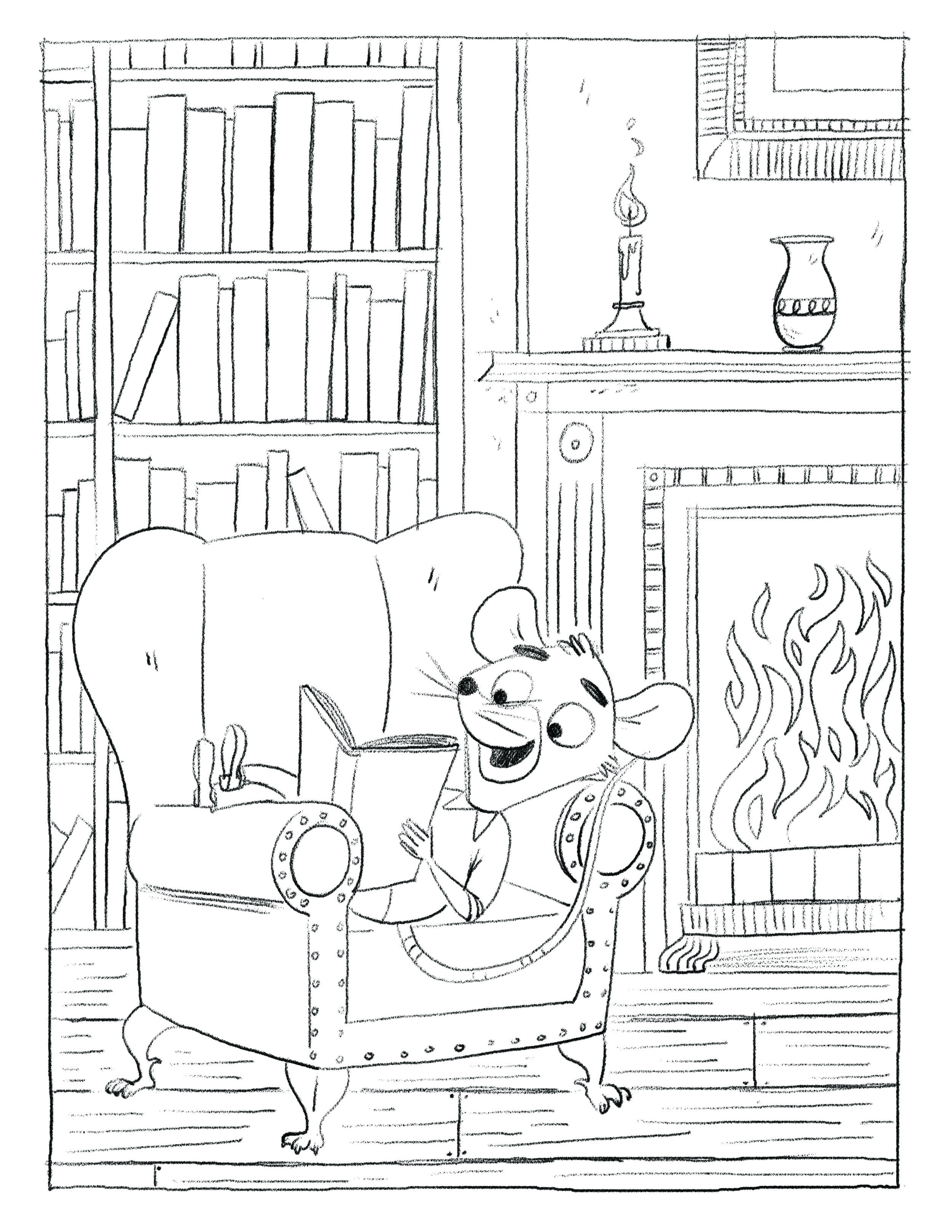 Book One: Henry in the library.