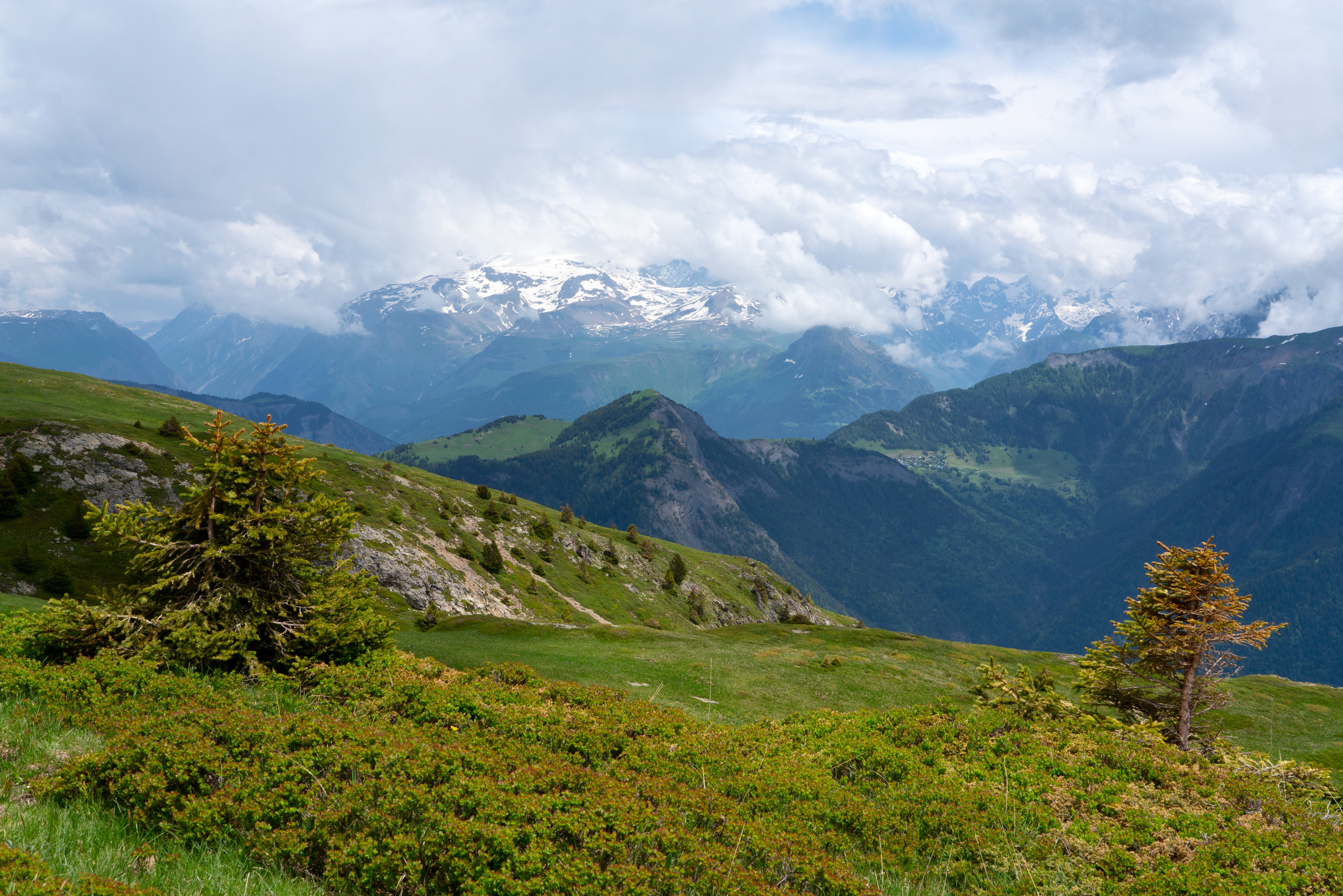 Looking down towards Bourg d'Oisans, L'Alpe d'Huez.