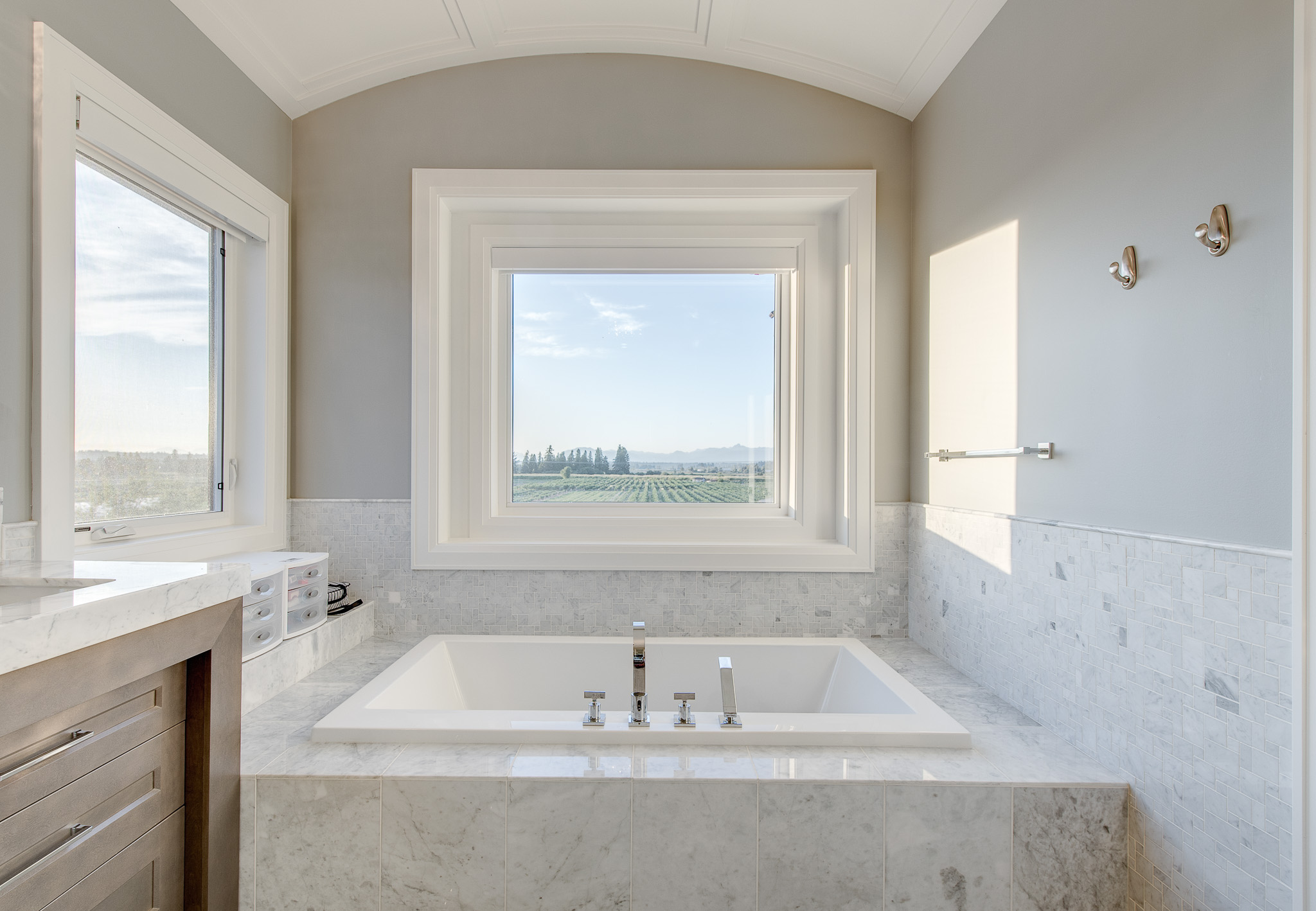 contemporary master ensuite tub