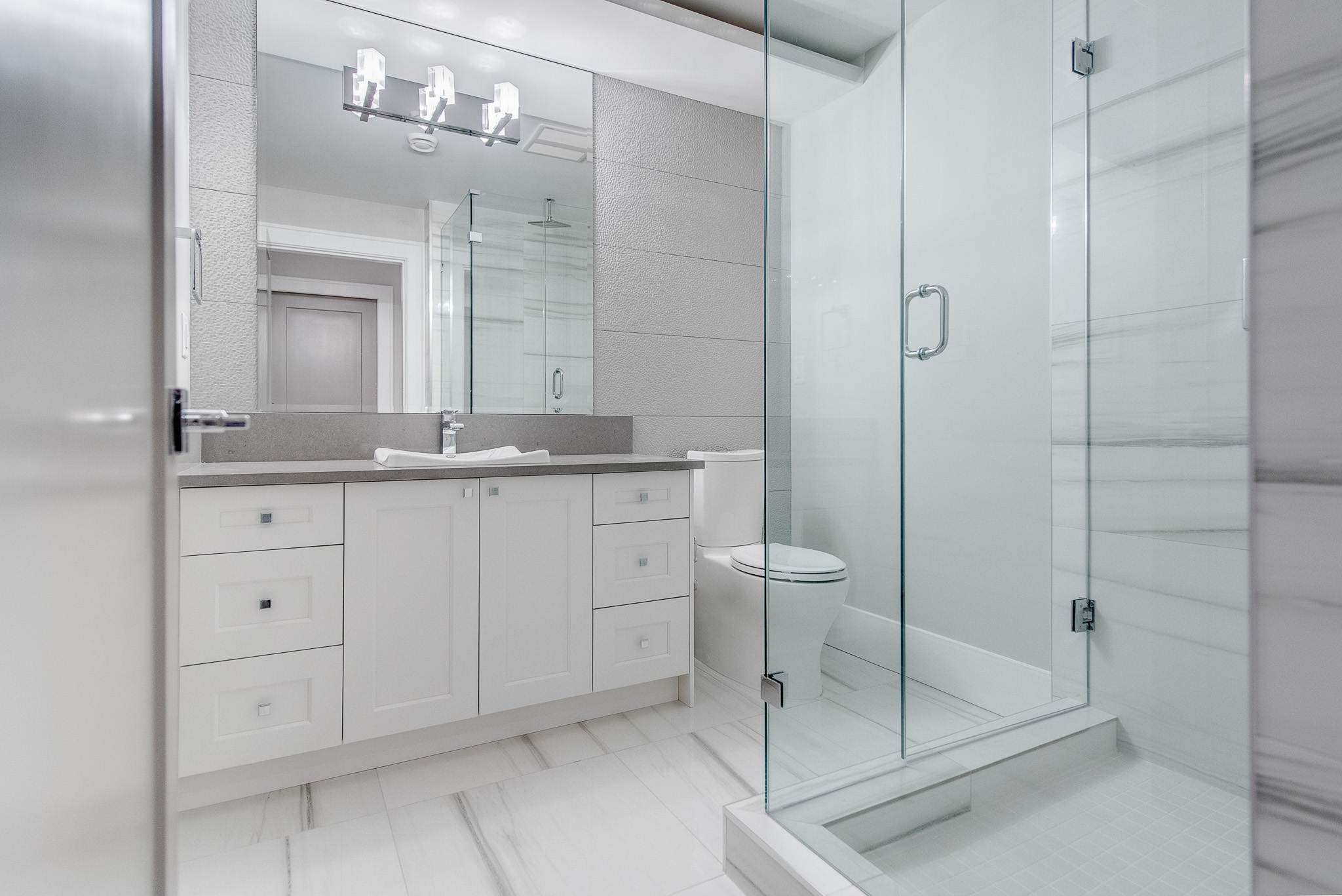 contemporary white bathroom