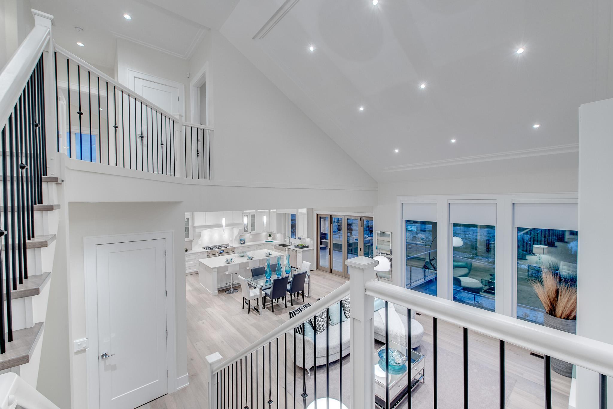 contemporary white home