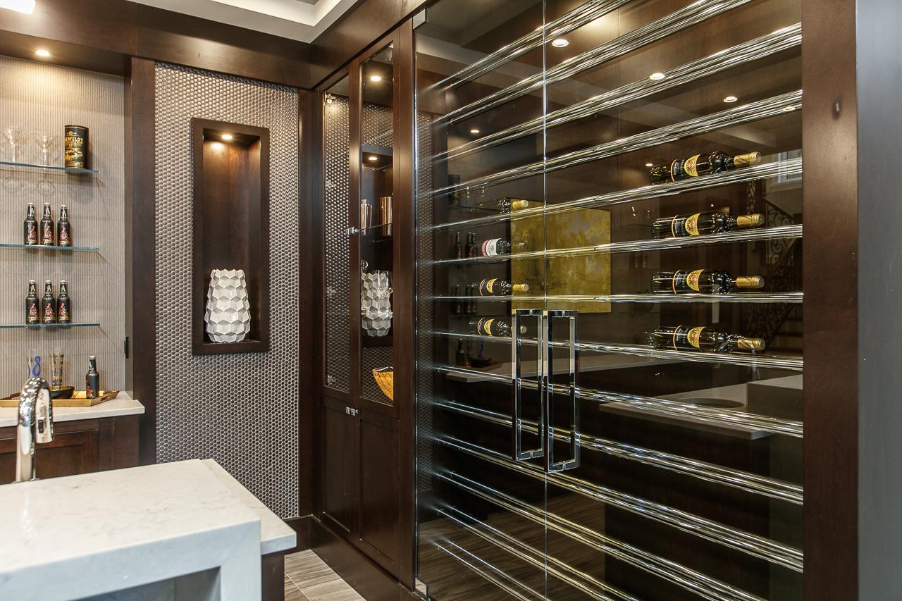 bar wine display
