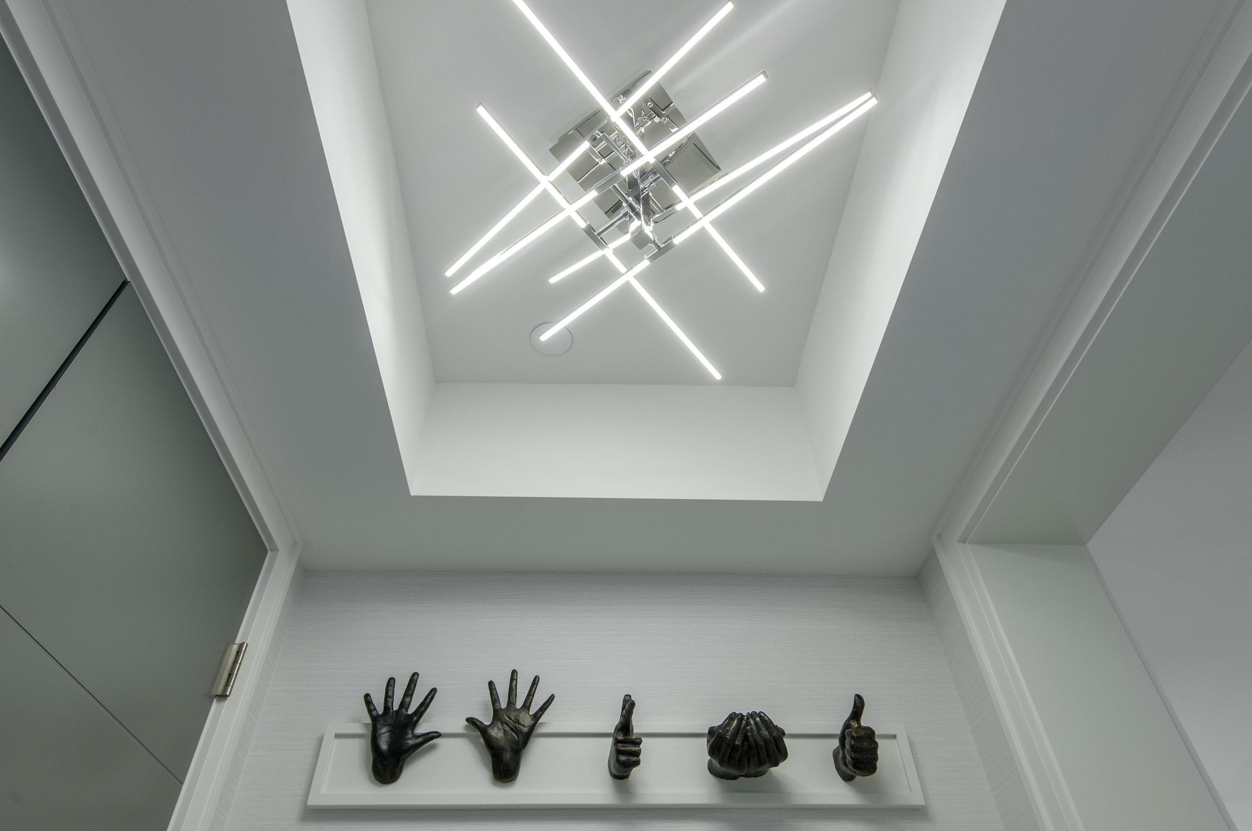 contemporary semi flush mount light