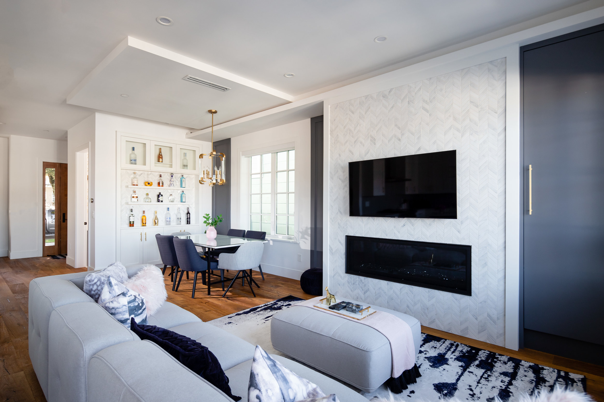 transitional living and dining