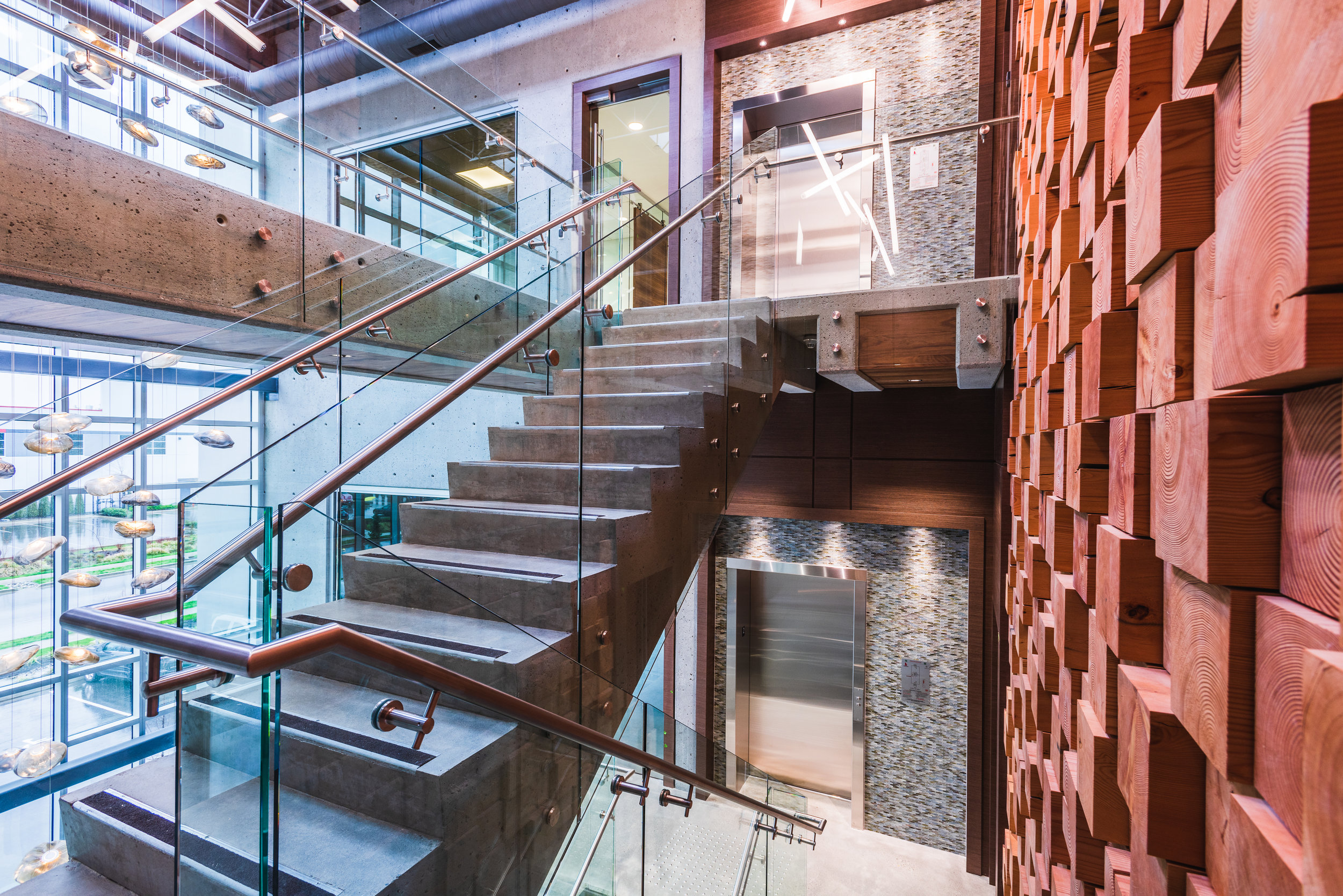 commercial head office stair design