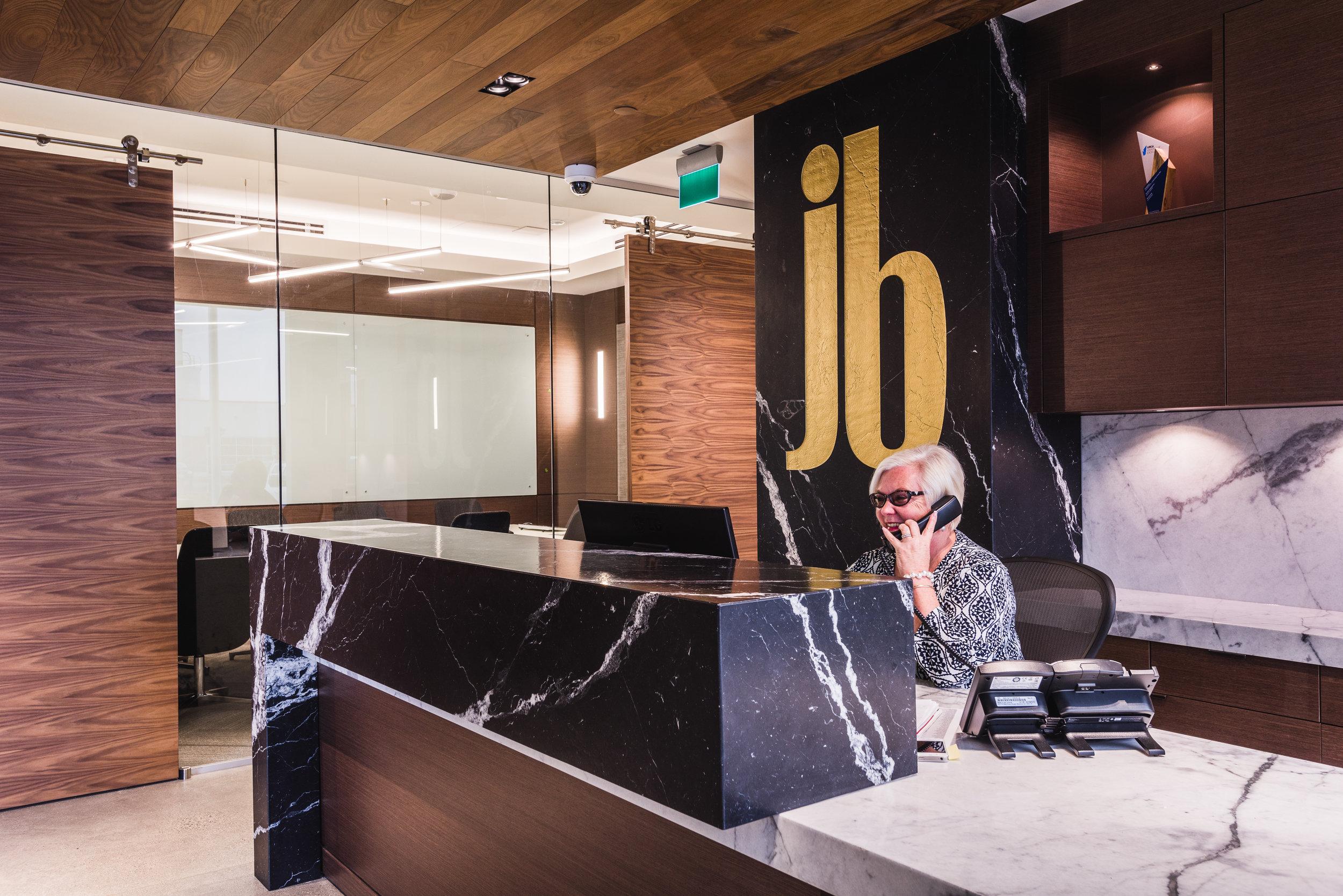 commercial head office reception desk