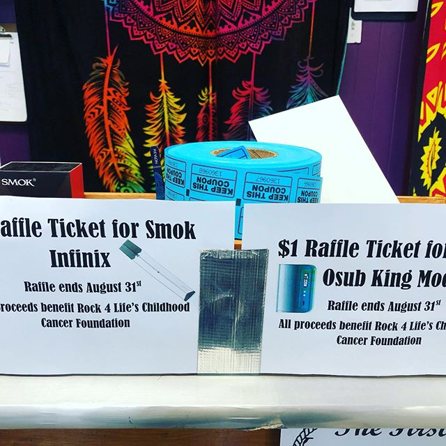 There's still time to enter in the raffles to win a infinix or Osub King!! All proceeds go to Rock for Life!!! Tickets are only a $1 and the raffles end August 31st!
